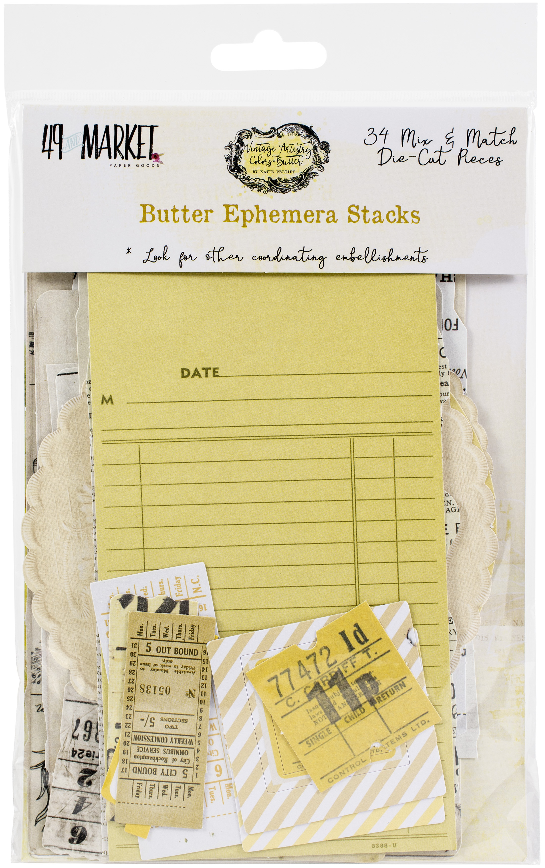 Vintage Artistry Butter Collage/Ephemera Stack-
