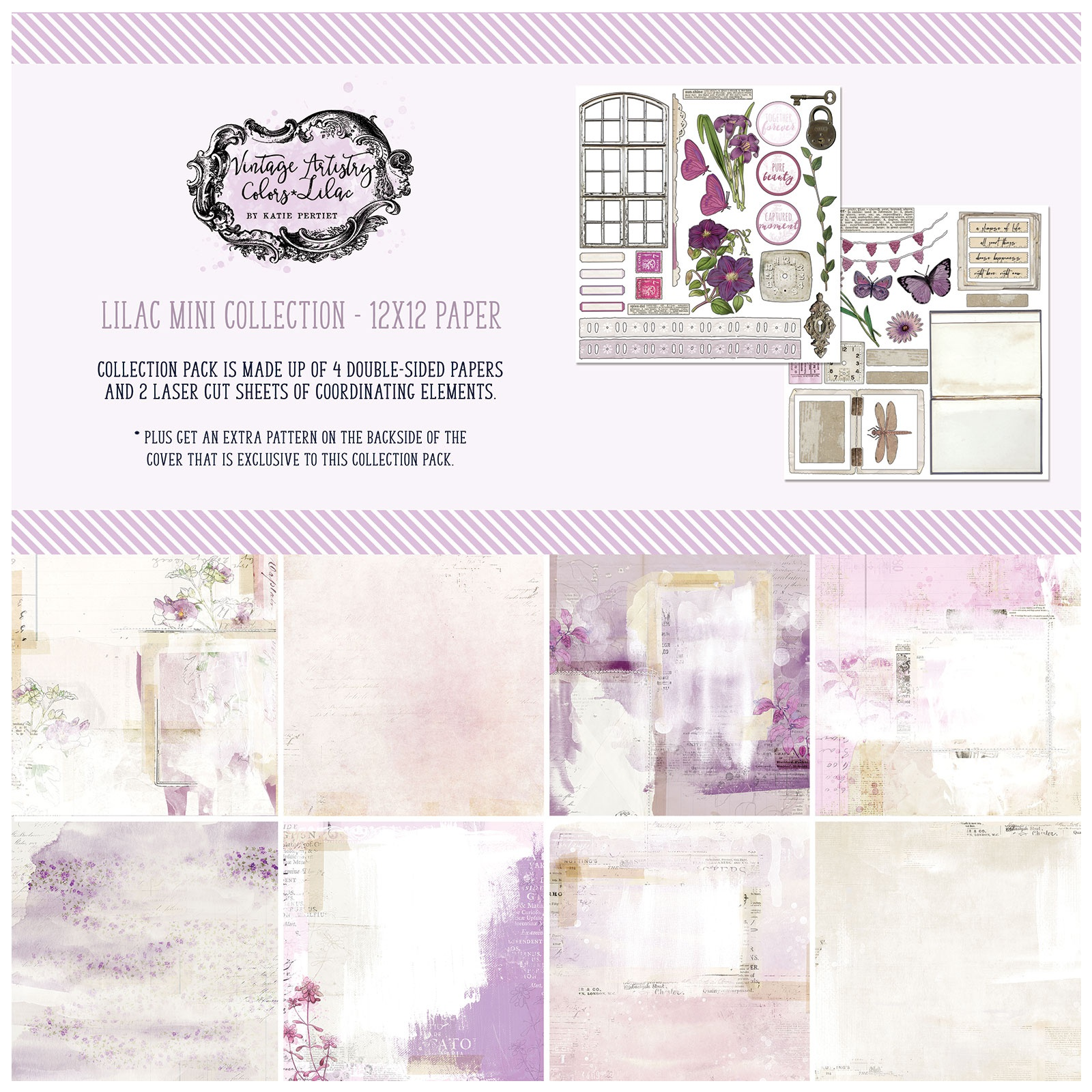 49 And Market Collection Pack 12X12-Vintage Artistry Lilac