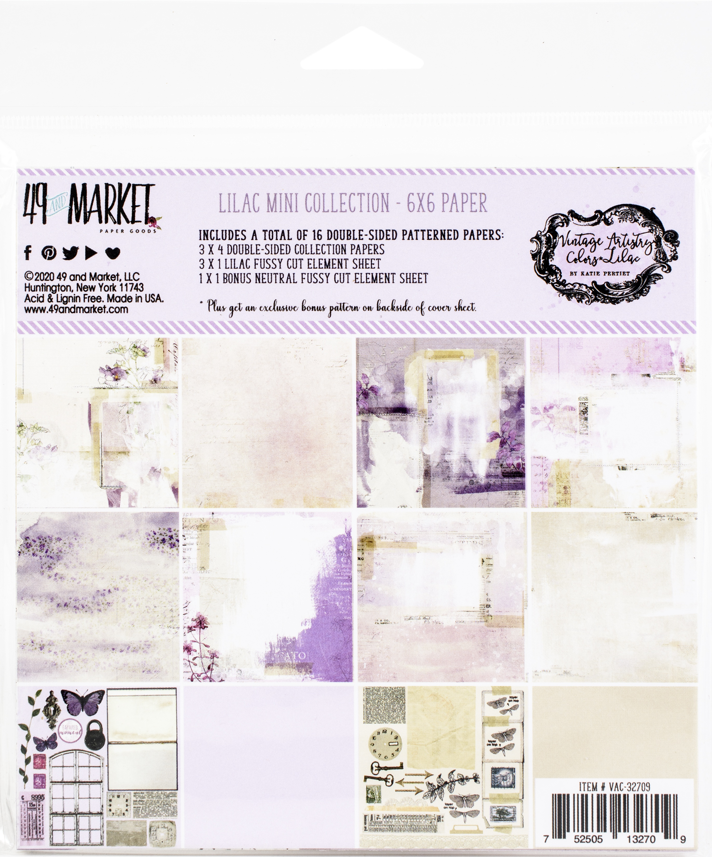 49 And Market Collection Pack 6X6-Vintage Artistry Lilac