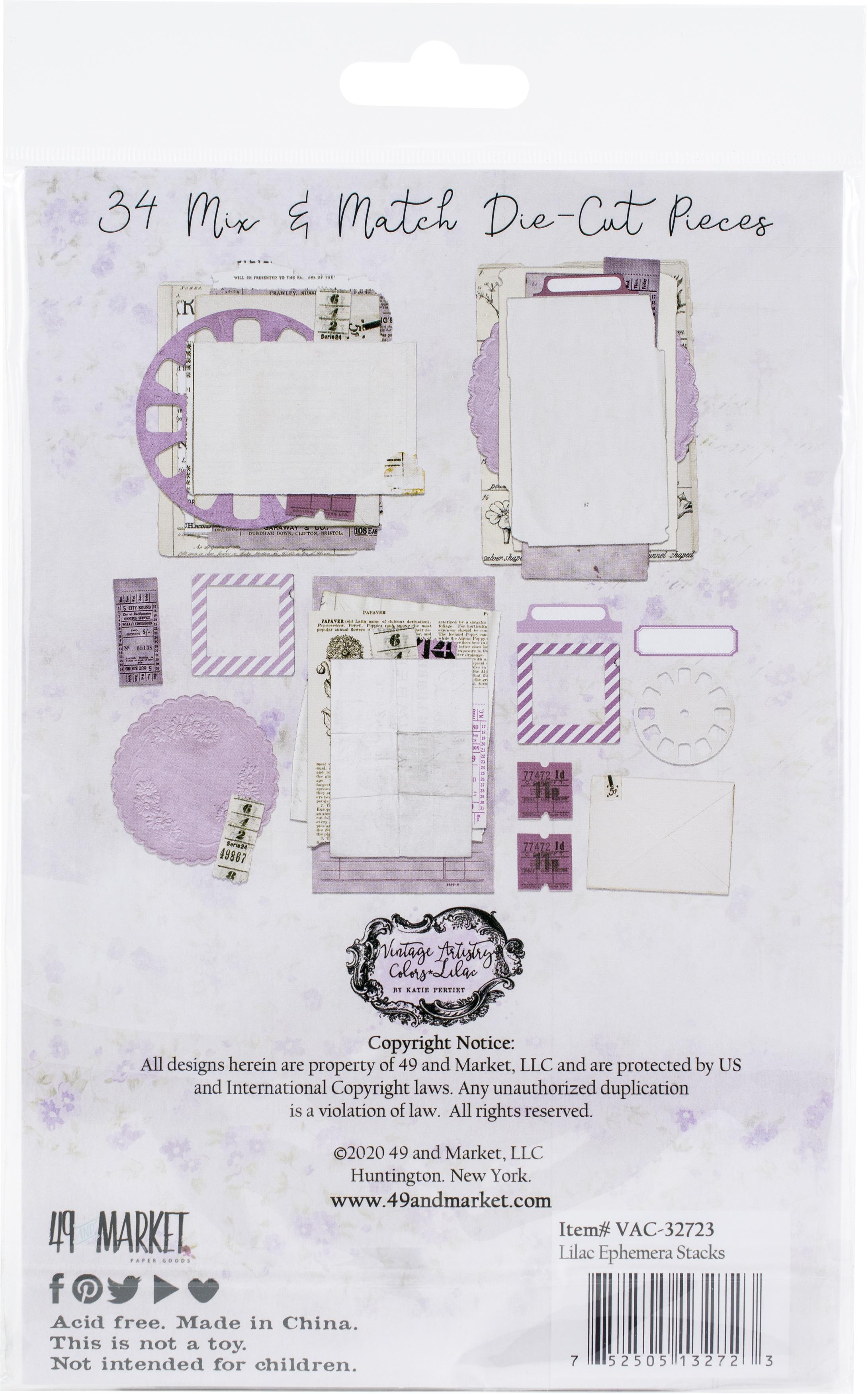 Vintage Artistry Lilac Collage Stack-