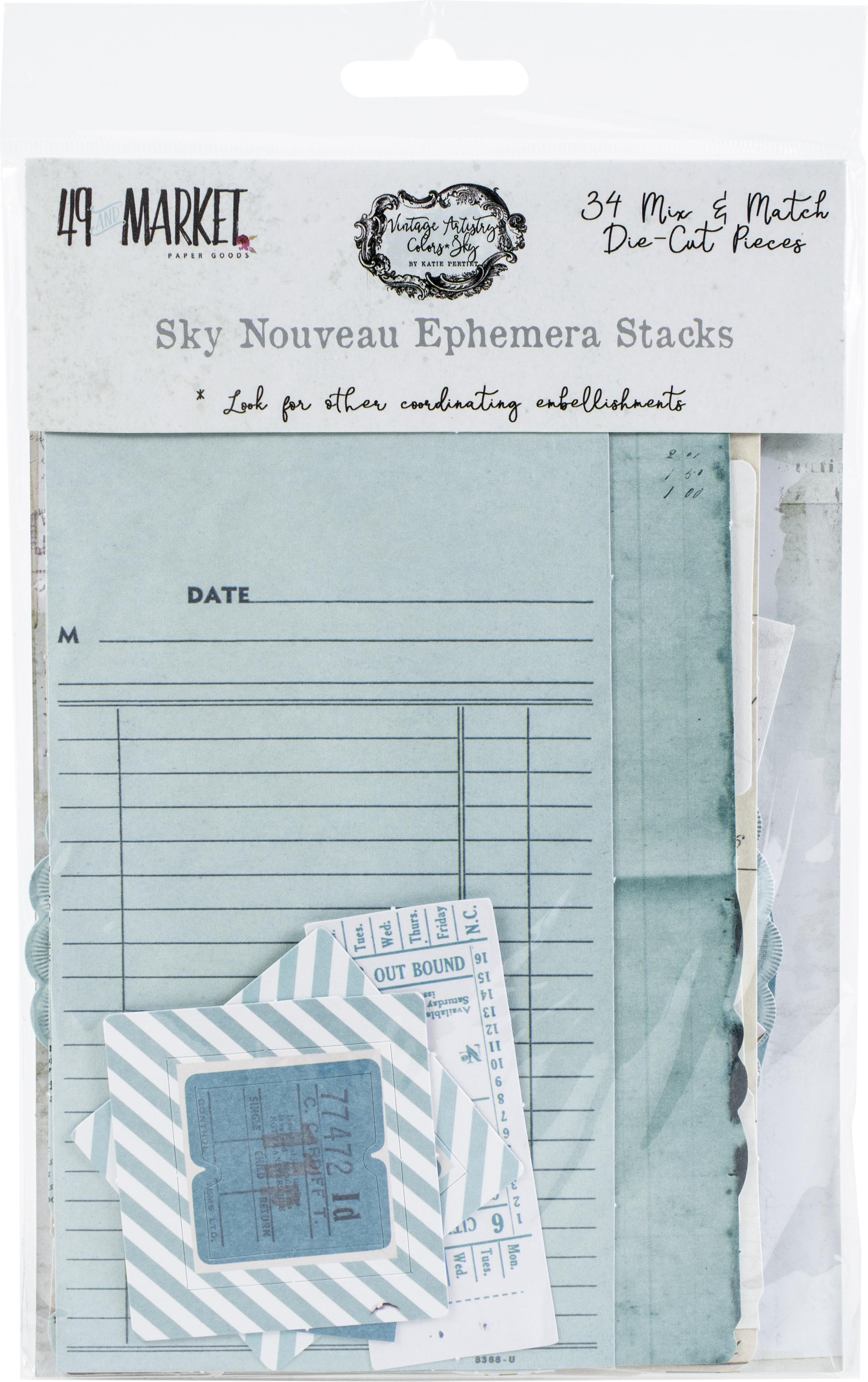 Vintage Artistry Sky Nouveau Collage Stack-