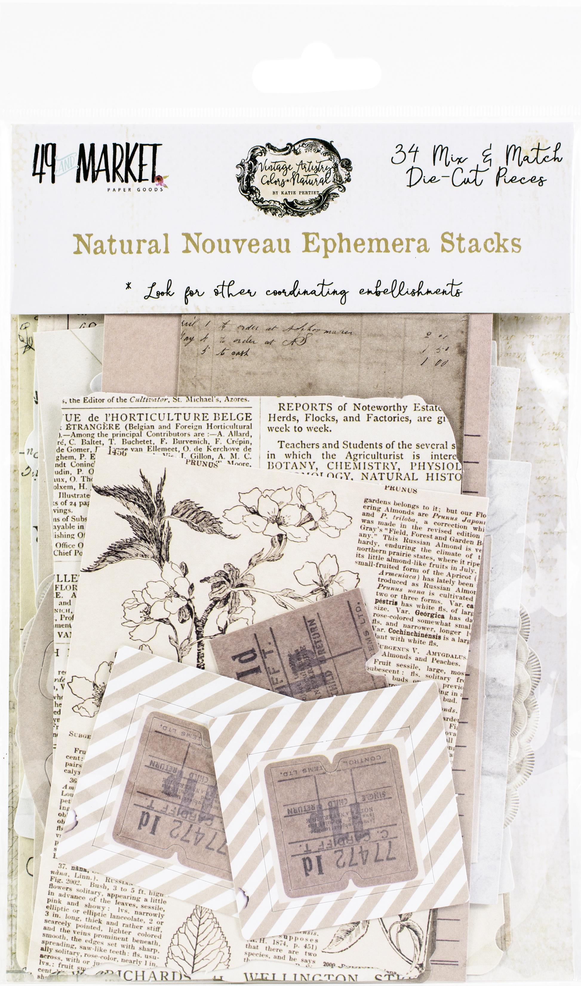 49 And Market - Natural Nouveau Ephemera Stacks