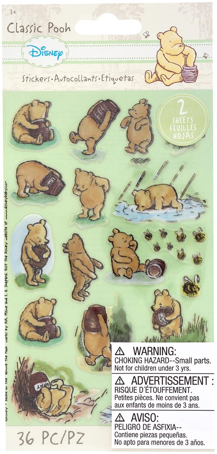 EK Disney Flat Stickers 2/Sheets-Classic Pooh