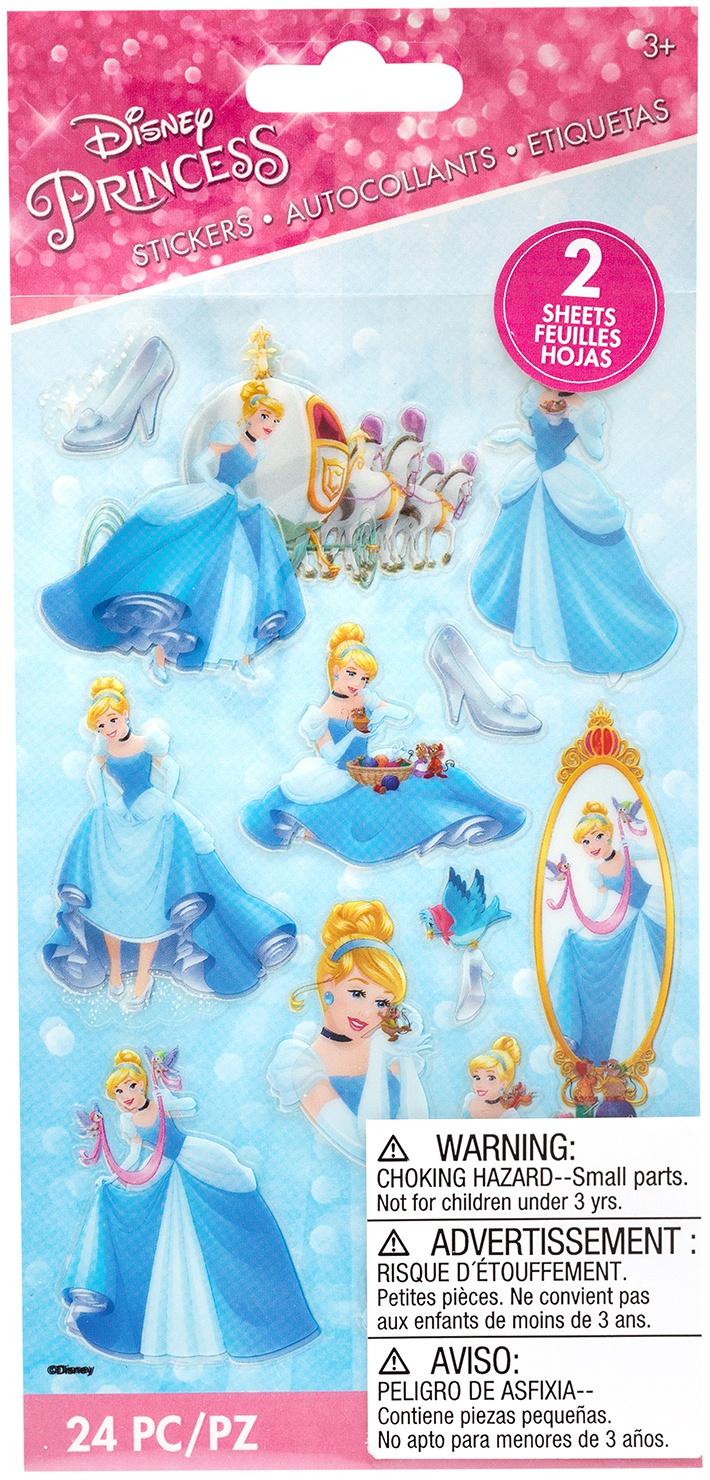 EK Disney Flat Stickers - Princess, Cinderella