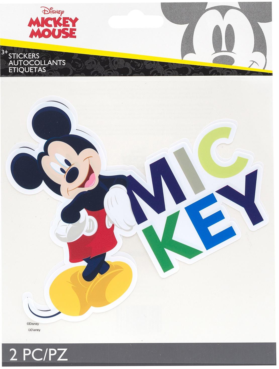 EK Disney Large Flat Stickers 2/Sheets-Mickey Mouse