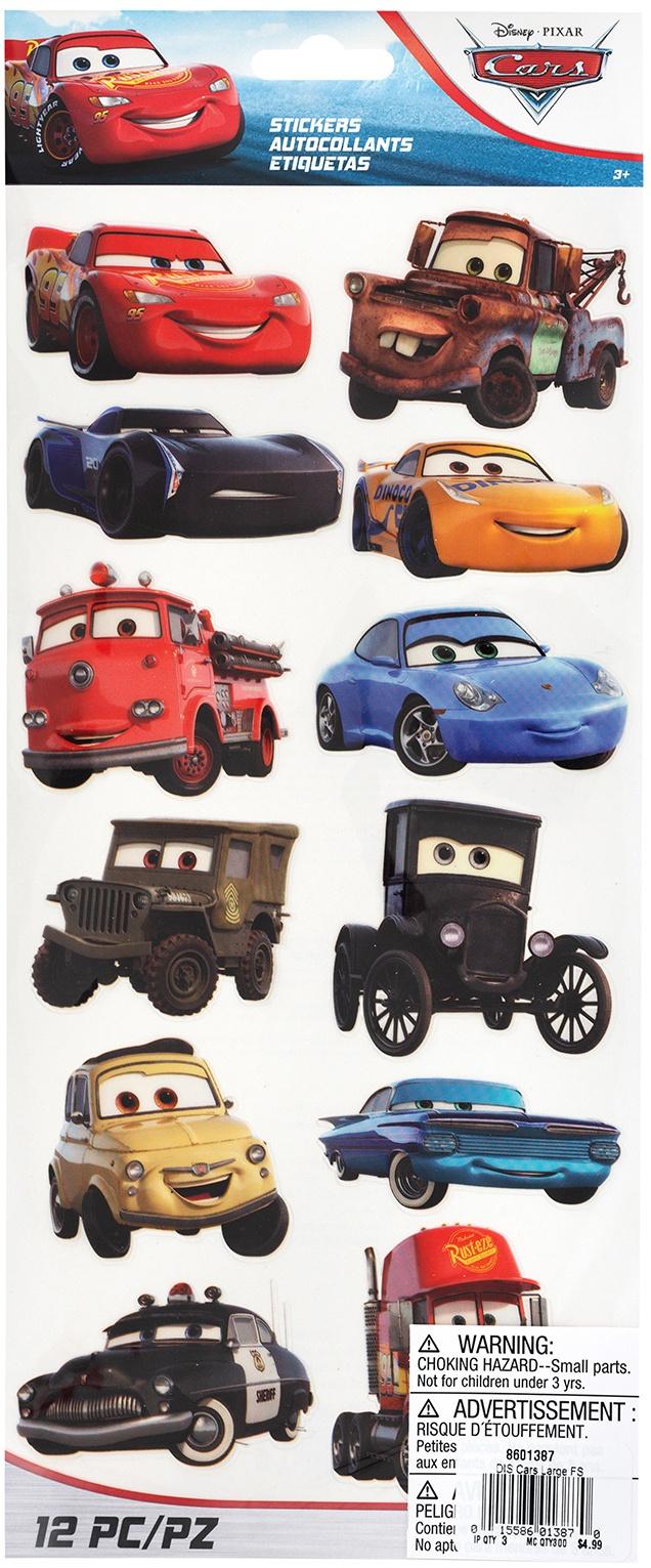 EK Disney Large Flat Stickers-Cars