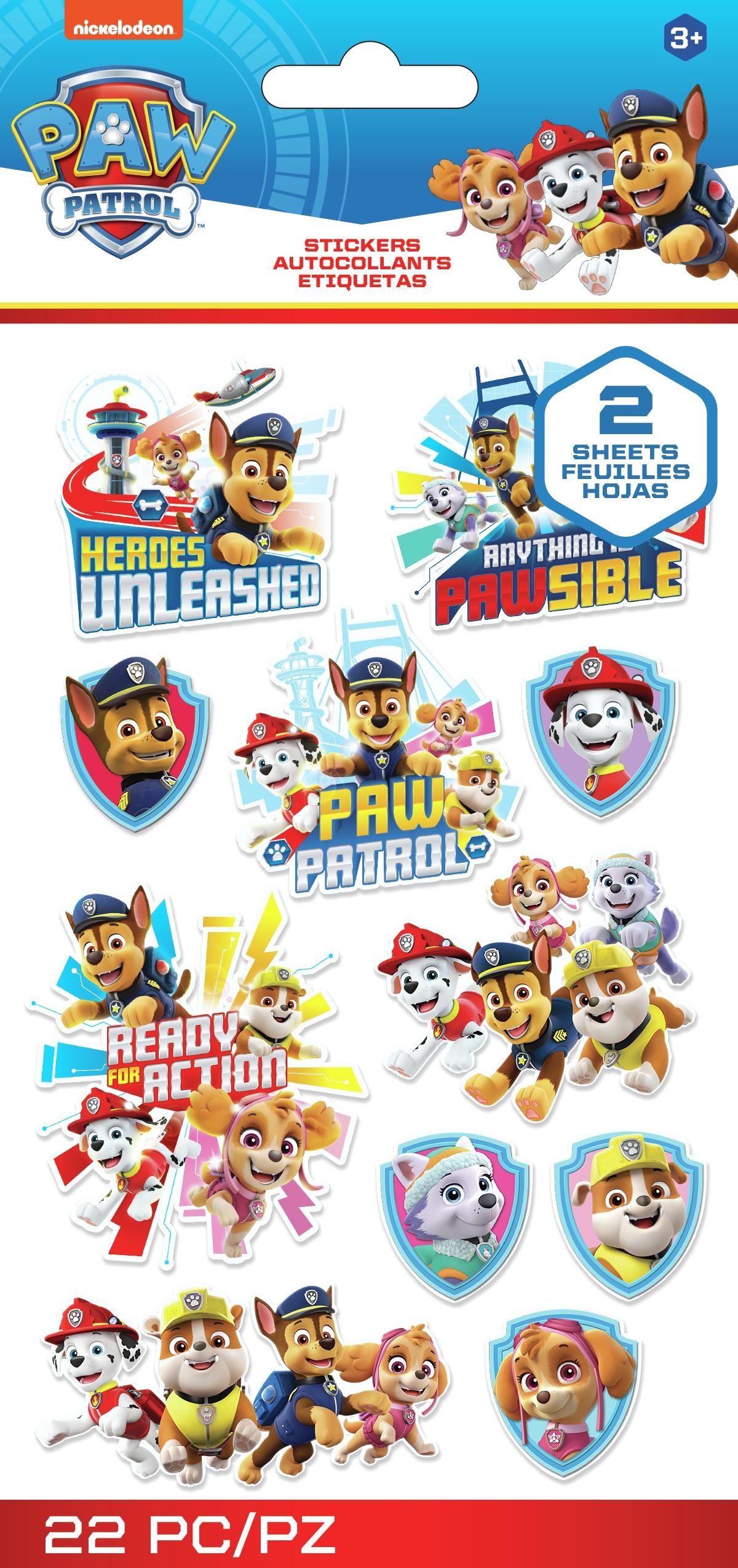 EK Disney Nickelodeon Flat Stickers 2/Sheets-Paw Patrol