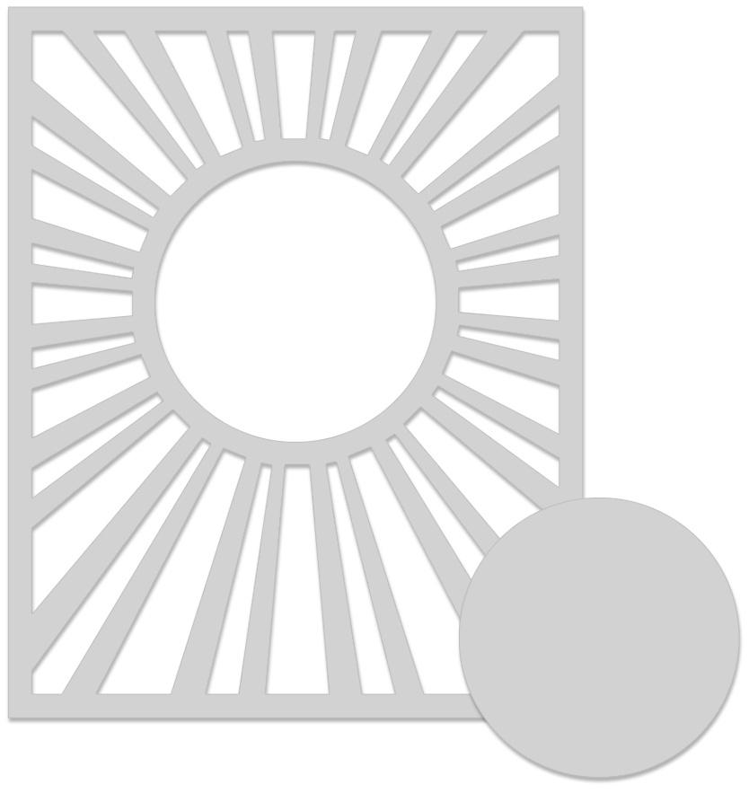 Hero Arts Stencil 6X6-Sun Background