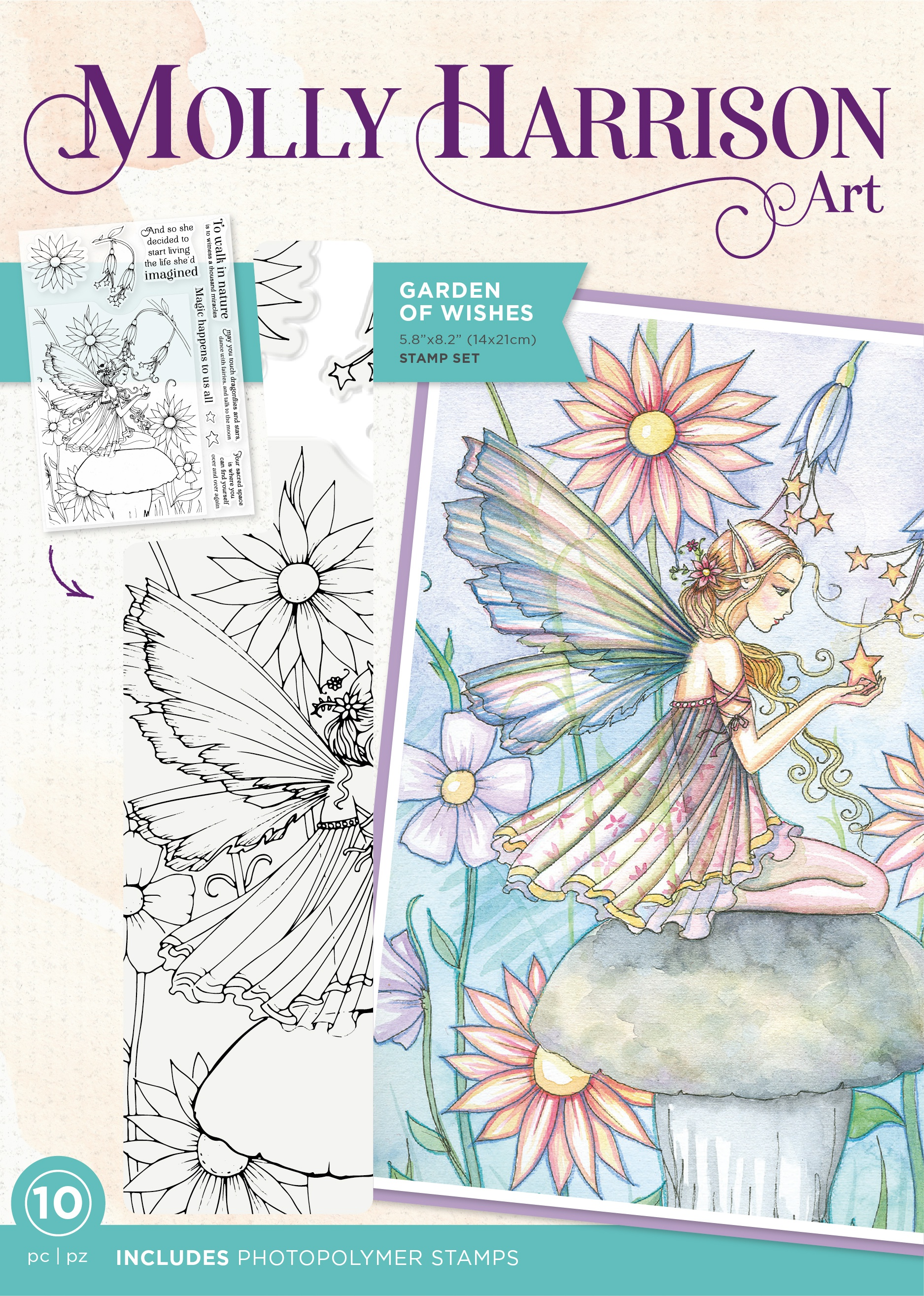 Crafter's Companion Photopolymer Stamps By Molly Harrison-Garden Of Wishes
