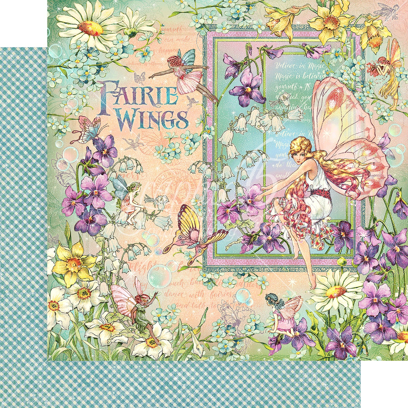 Fairie Wings Double-Sided Cardstock 12X12-Fairie Wings