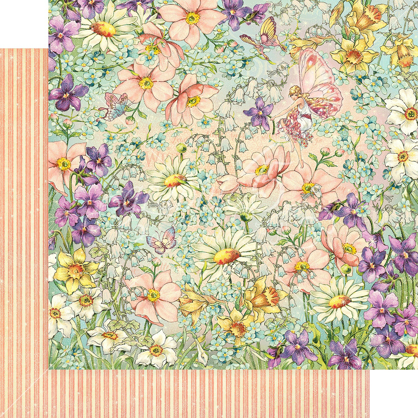Fairie Wings Double-Sided Cardstock 12X12-Magic Meadow