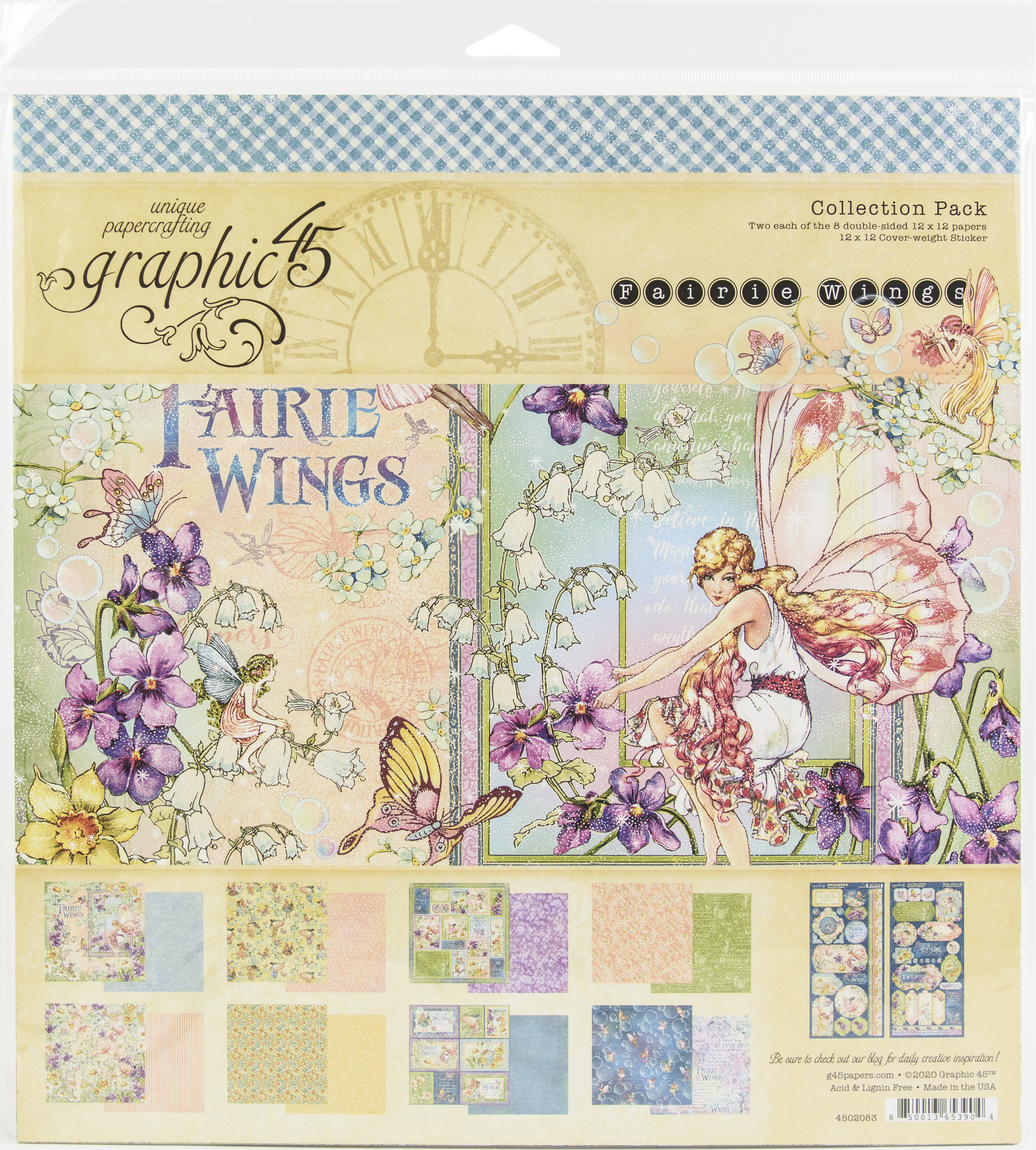 Graphic 45 Collection Pack 12X12-Fairie Wings