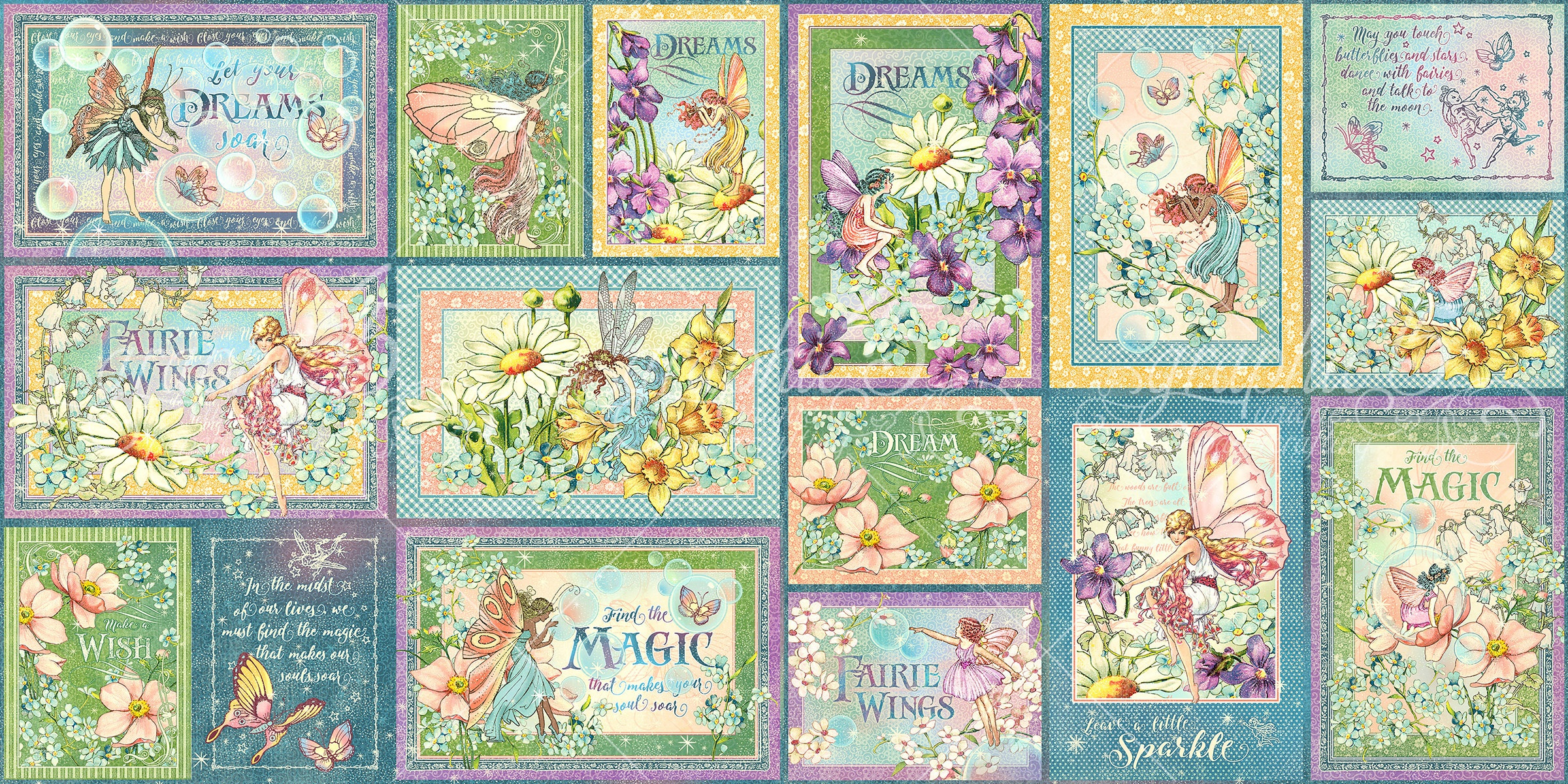 Graphic 45 Fairie Wings Ephemera & Journaling Cards-