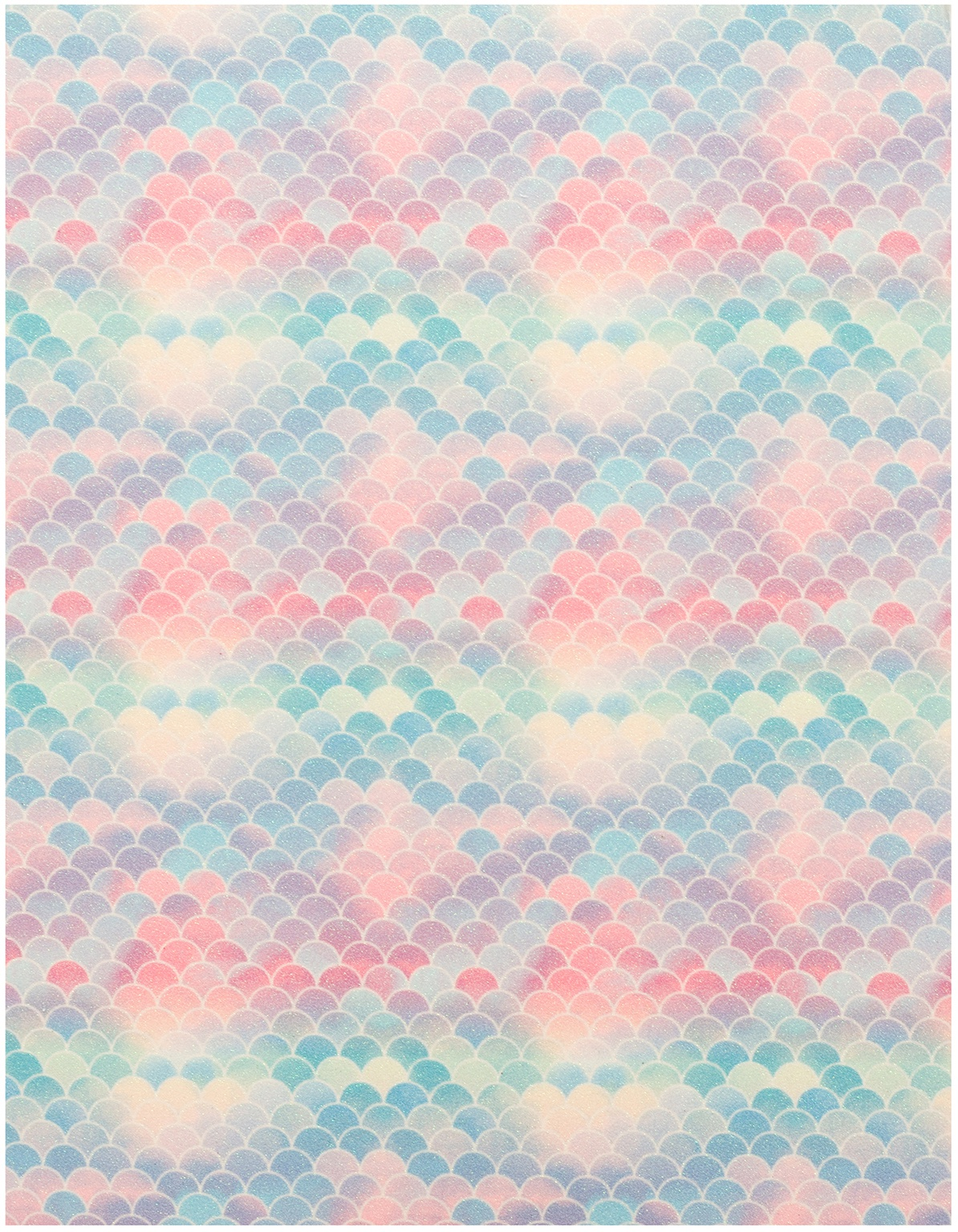 American Crafts Glitter Specialty Paper 8.5X11-Lip Gloss Mermaid
