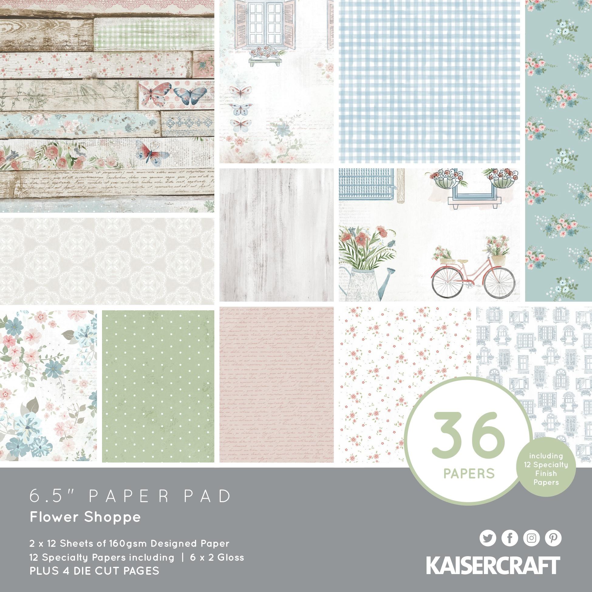 Flower Shoppe Paper Pad 6.5X6.5 40/Pkg