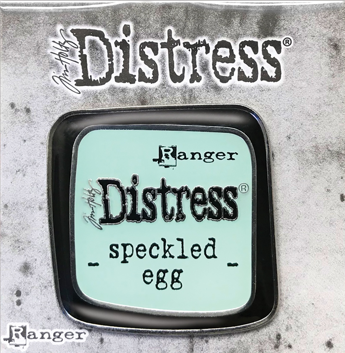 Tim Holtz Distress Enamel Collector Pin-Speckled Egg