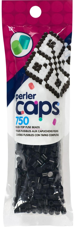 Perler Cap Beads 750/Pkg-Black
