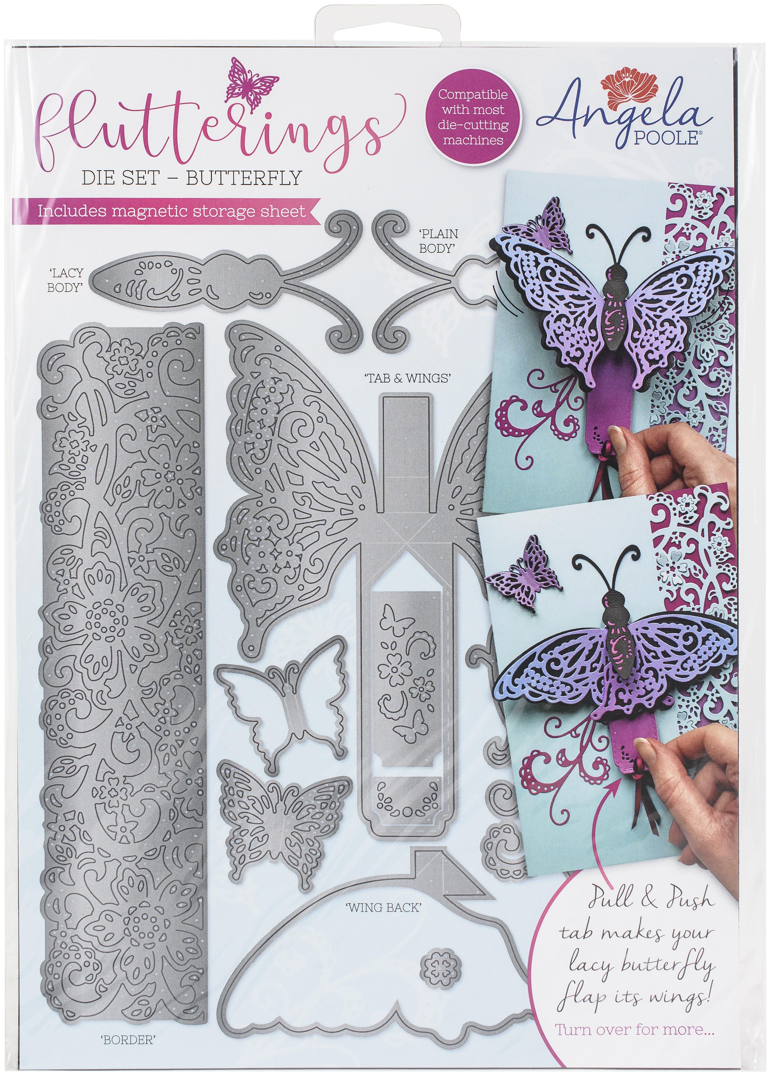 Angela Poole Flutterings Die Set-Butterfly