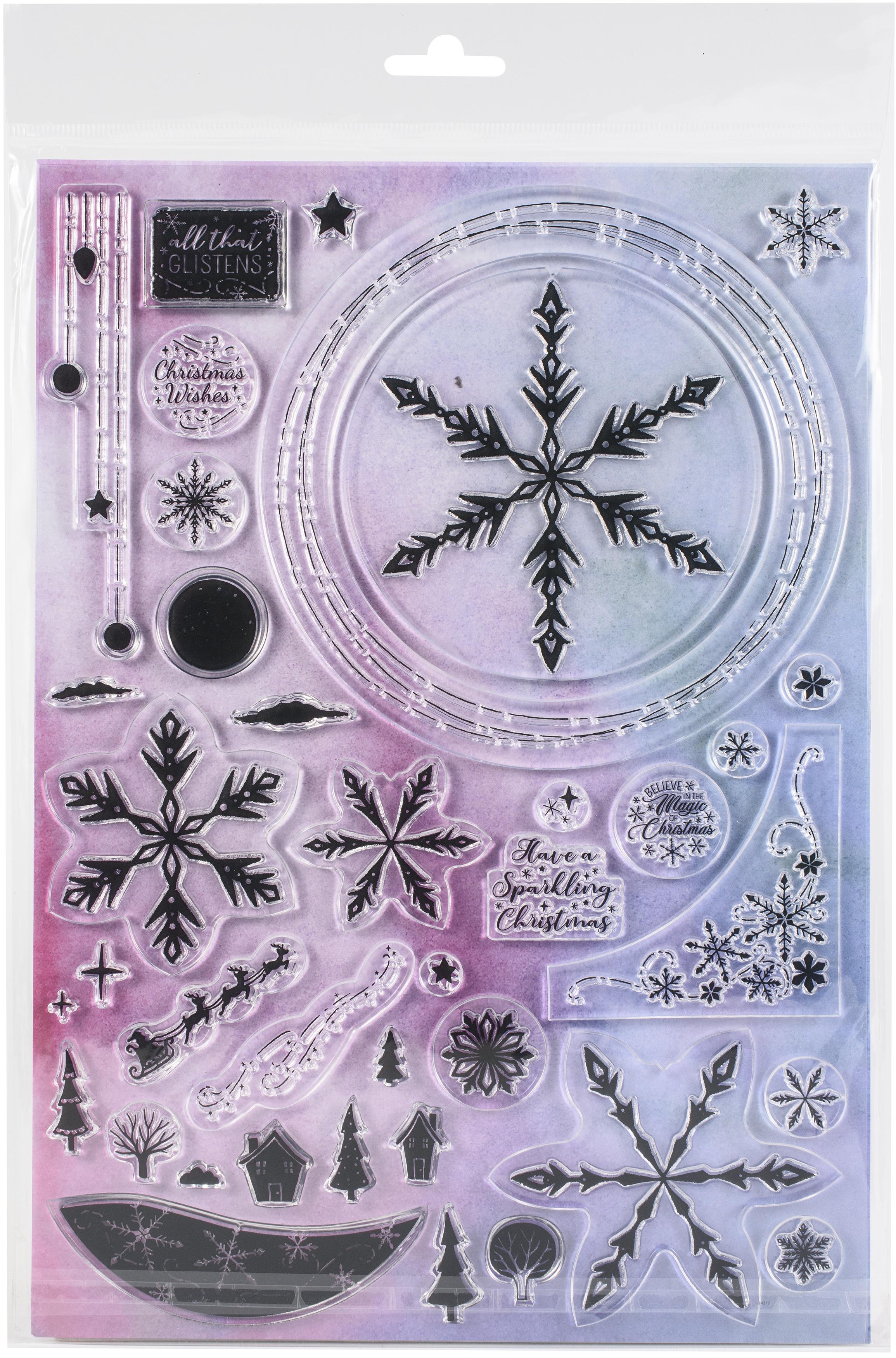 Angela Poole - Photopolymer Stamp Set - Florals & Flurries A4