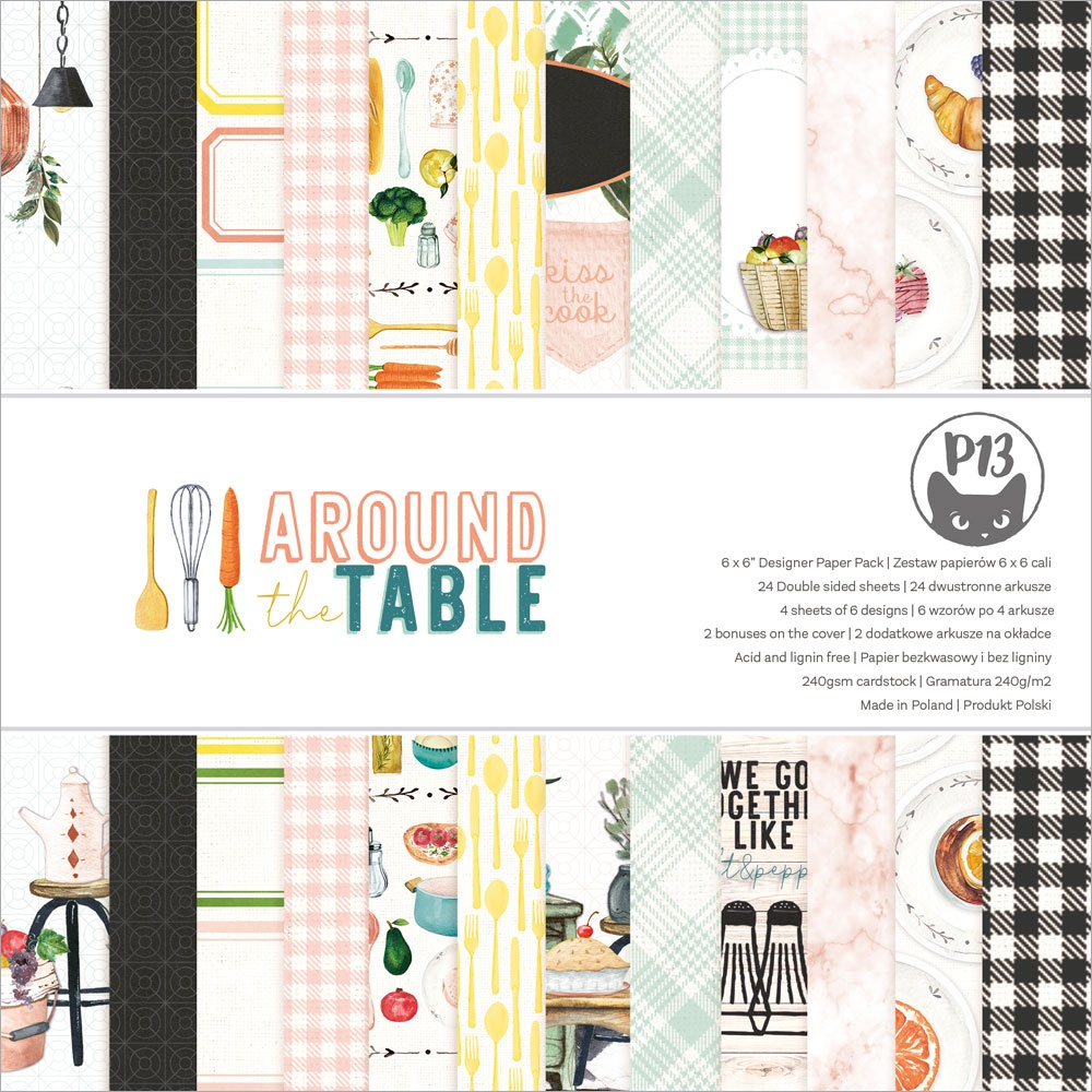 P13 Double-Sided Paper Pad 6X6 24/Pkg-Around The Table