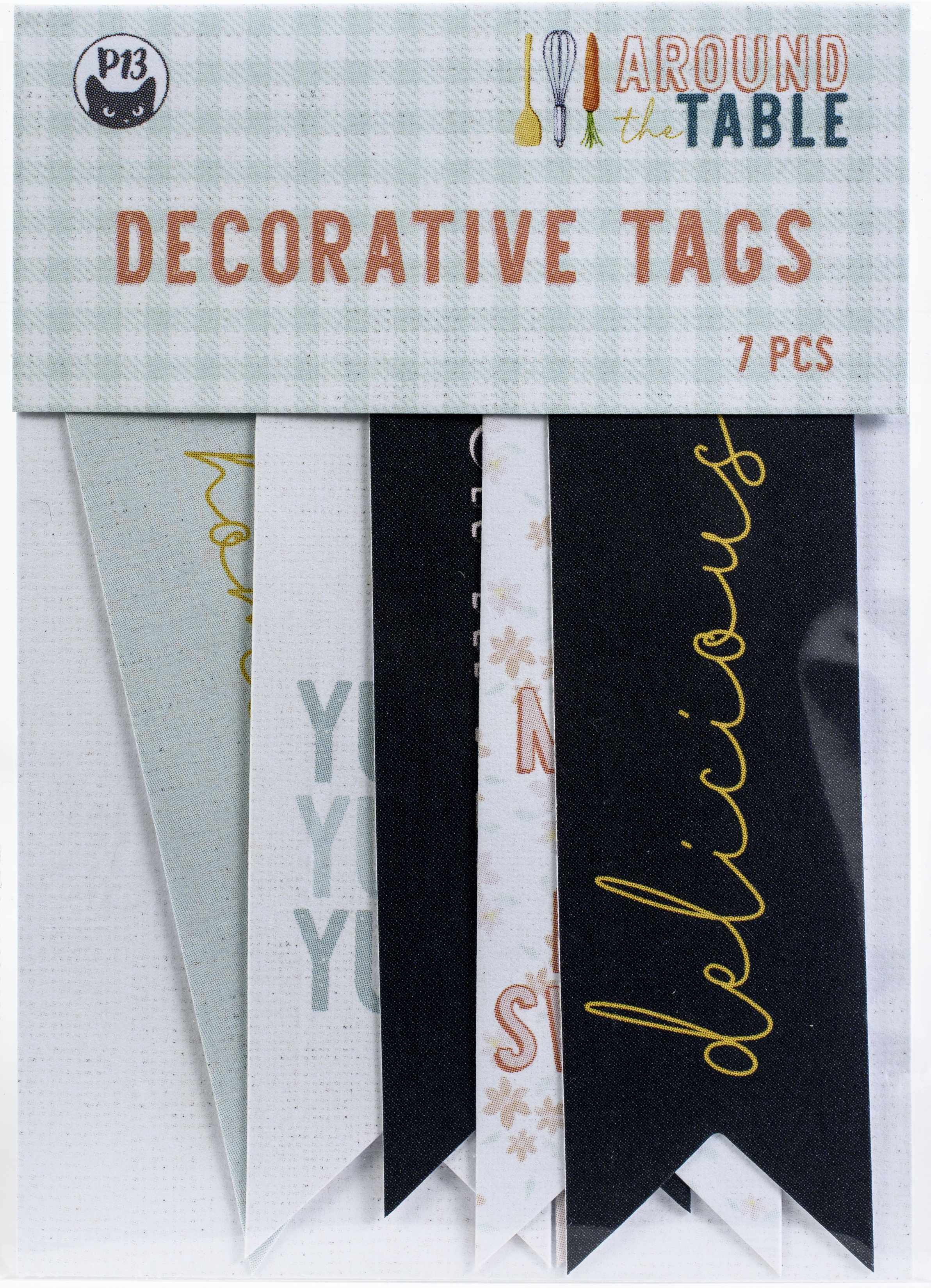 Around The Table Double-Sided Cardstock Tags 7/Pkg-#02