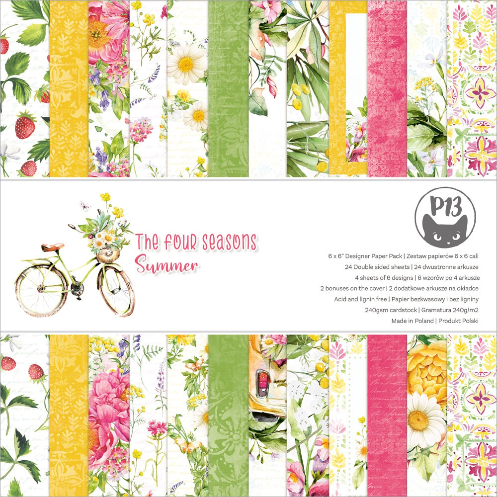 P13 Double-Sided Paper Pad 6X6 24/Pkg-The Four Seasons-Summer