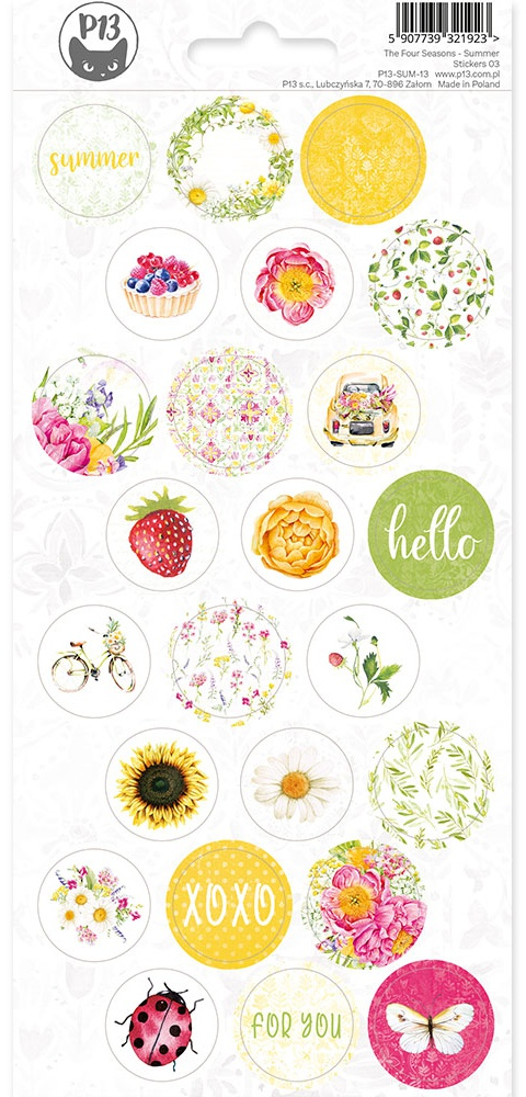 The Four Seasons-Summer Cardstock Stickers 4X9-#03