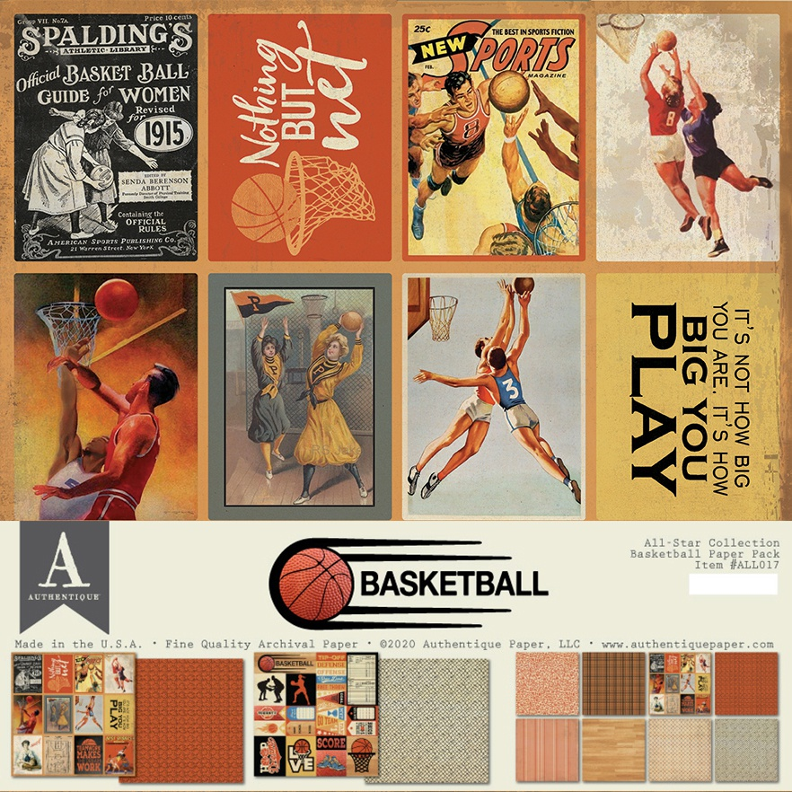 Authentique All-Star Paper Pack-Basketball