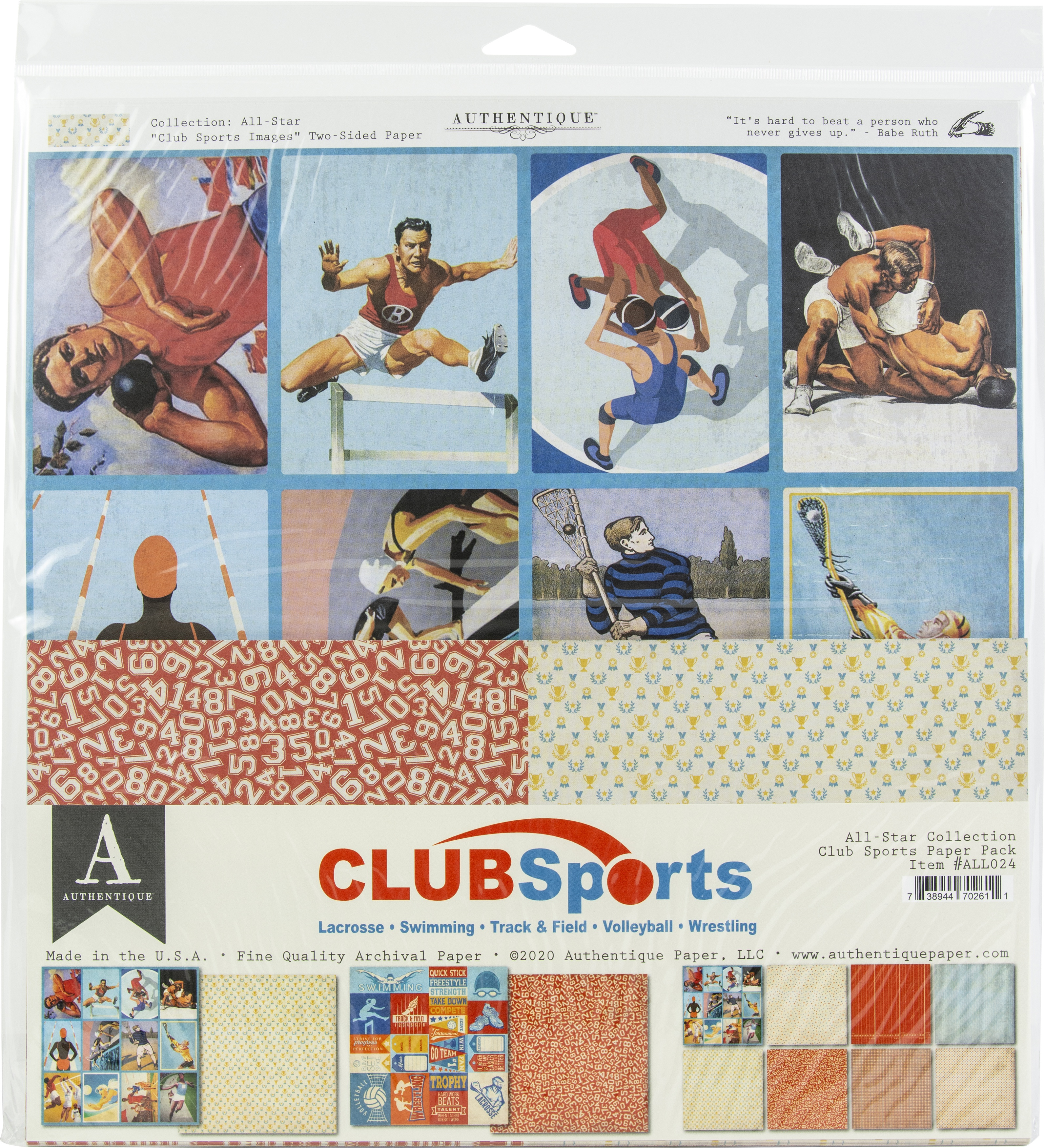 Authentique All-Star Paper Pack-Club Sports