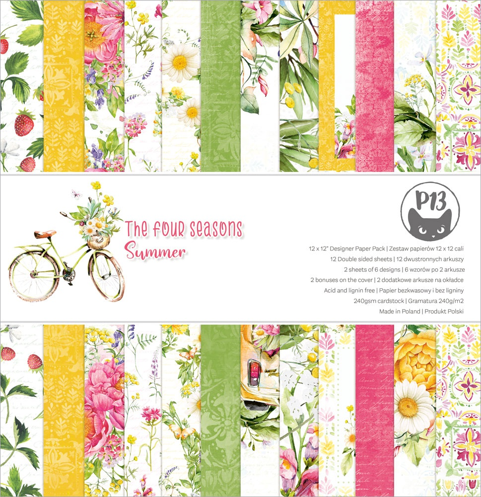 P13 Double-Sided Paper Pad 12X12 12/Pkg-The Four Seasons-Summer
