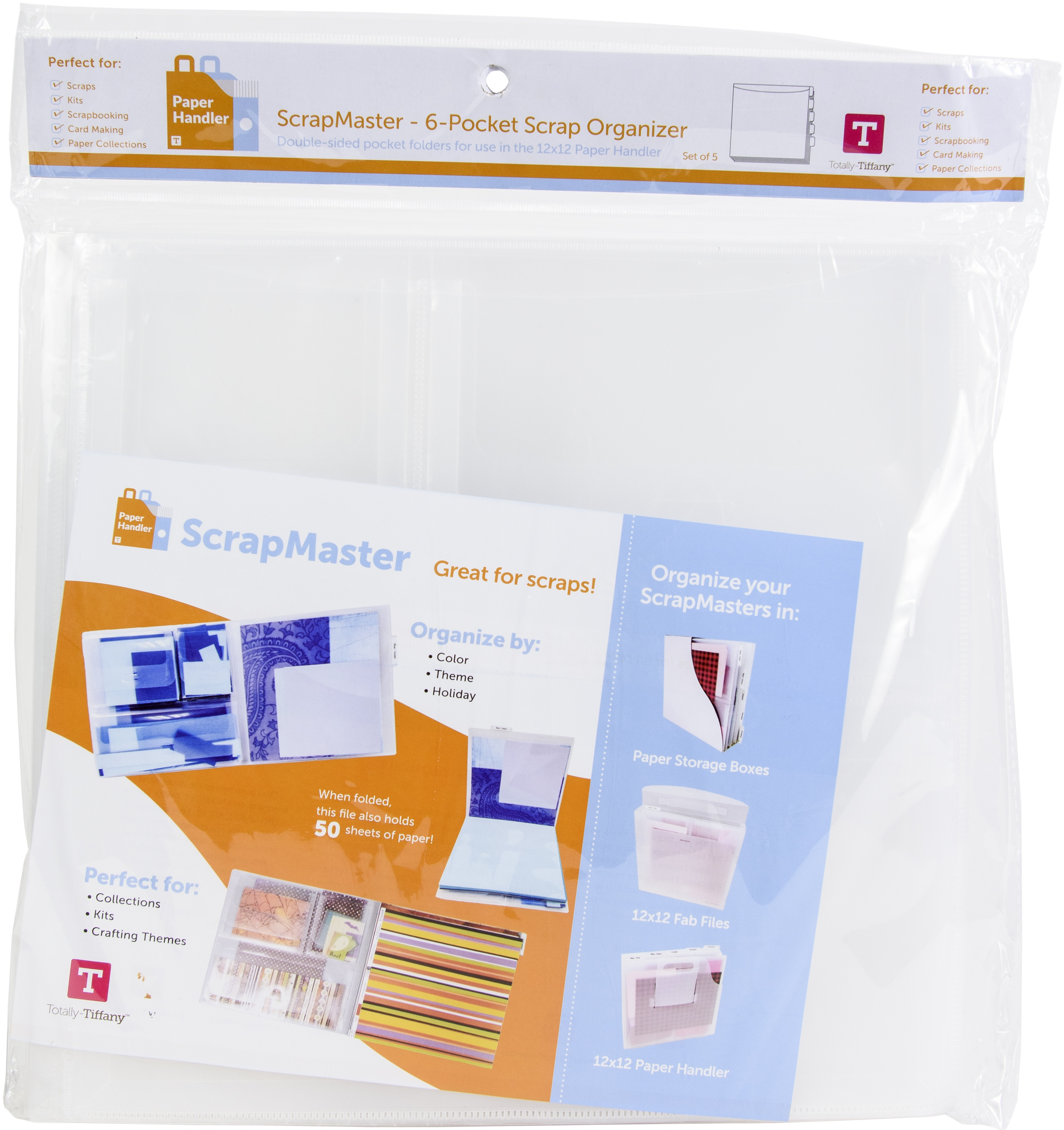 ScrapMaster Scrap Paper Organizer 5/Pkg - Totally Tiffany