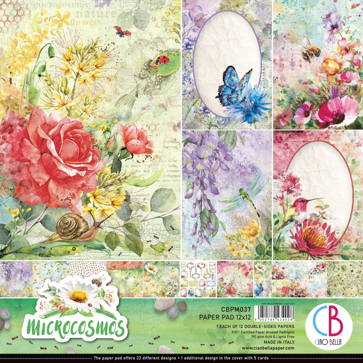 Ciao Bella Double-Sided Paper Pack - Microcosmos, 12x12