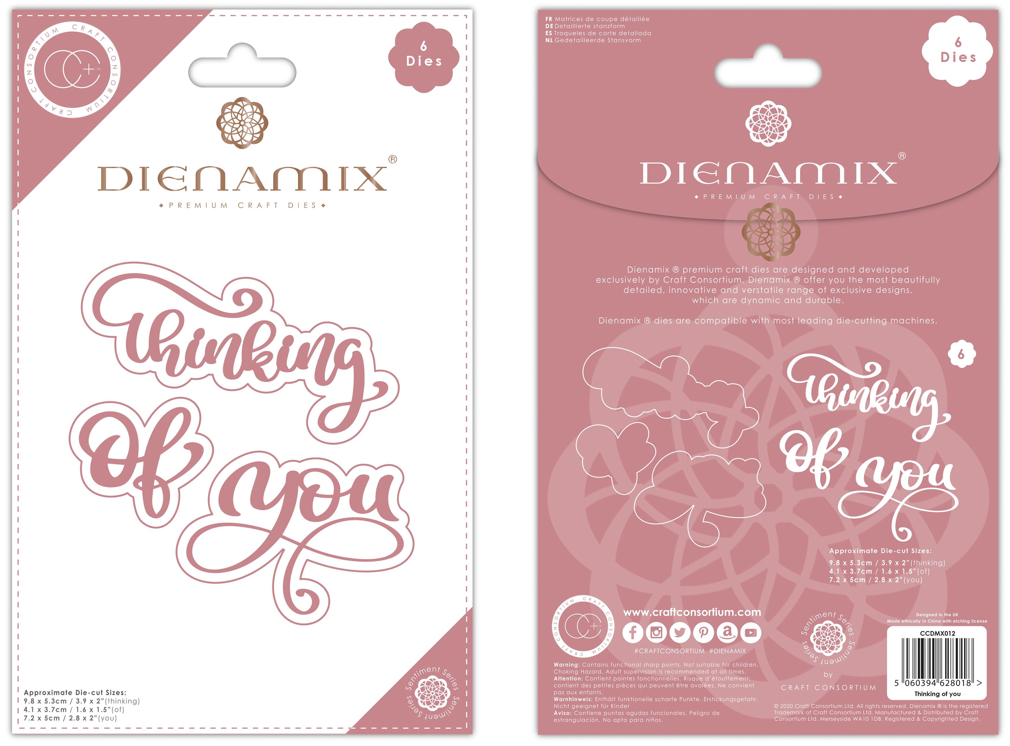 Craft Consortium Dienamix Premium Cutting Dies-Thinking Of You