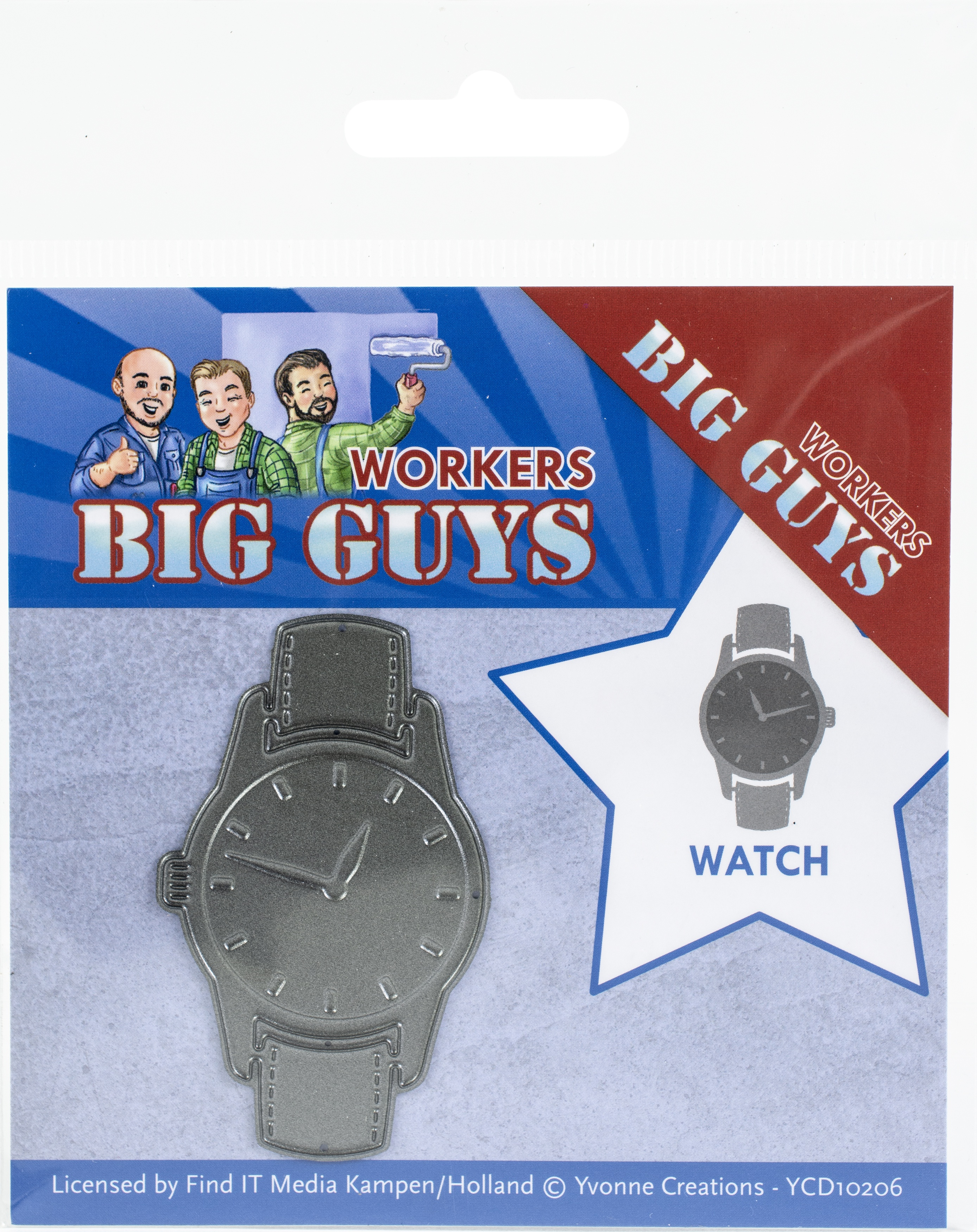 Find It Trading Yvonne Creations Die-Watch, Big Guys Workers