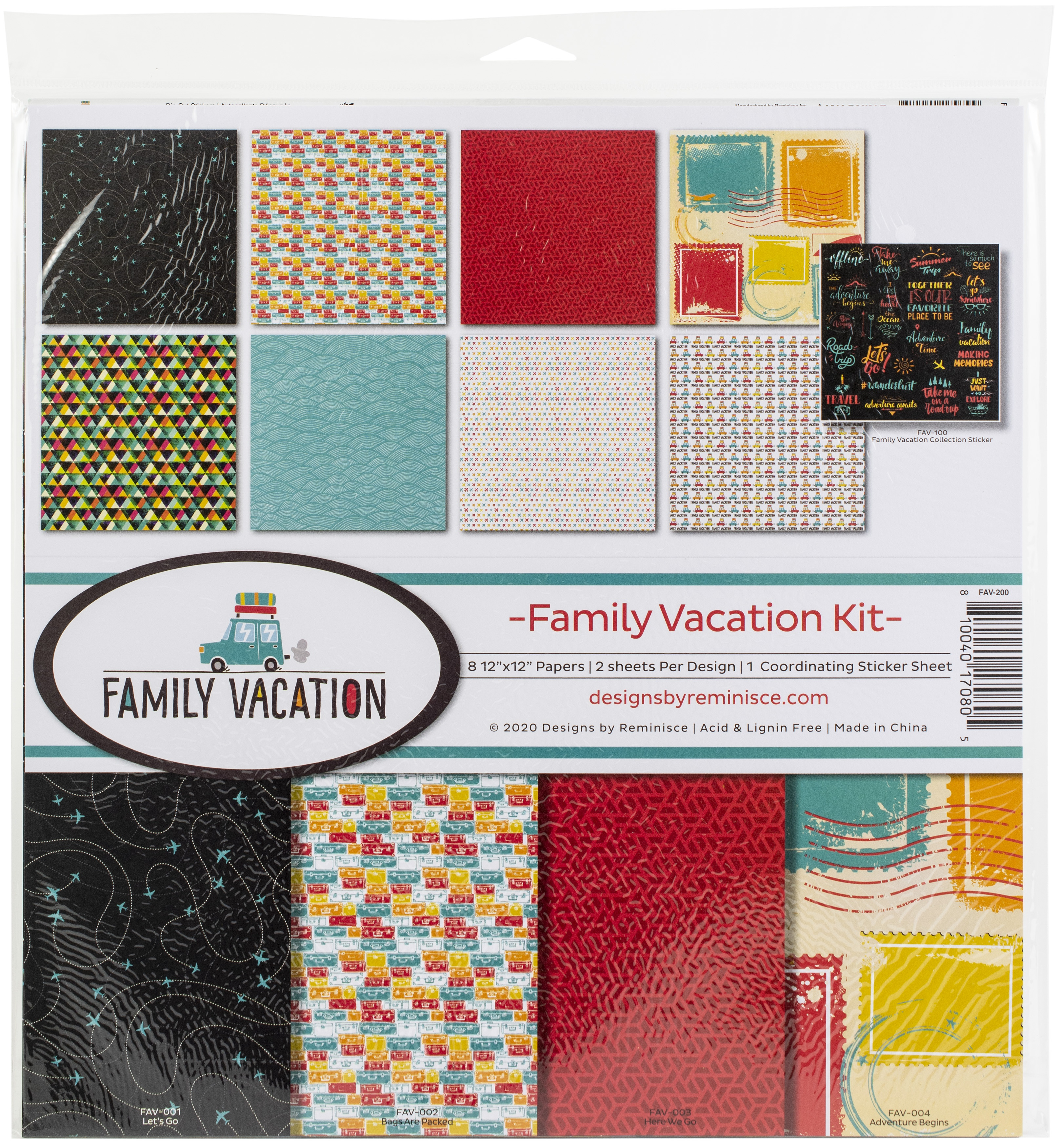 Reminisce Collection Kit 12X12-Family Vacation