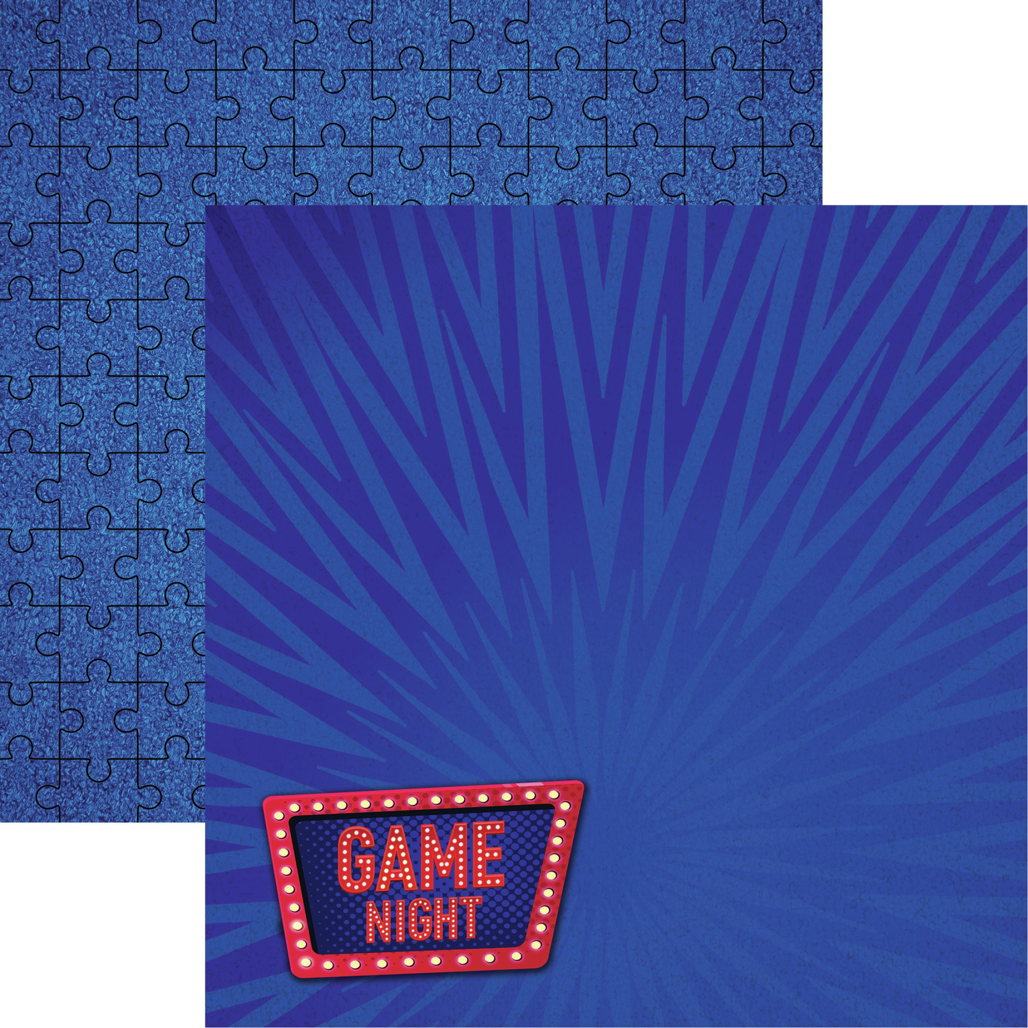 There's No Place Like Home Double-Sided Cardstock 12X12-Game Night