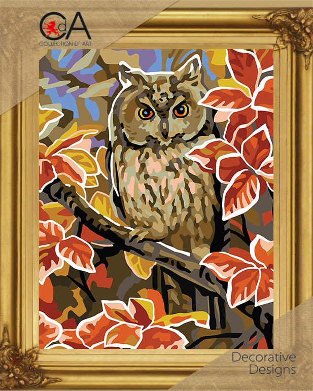 Owl Printed Needlepoint Kit