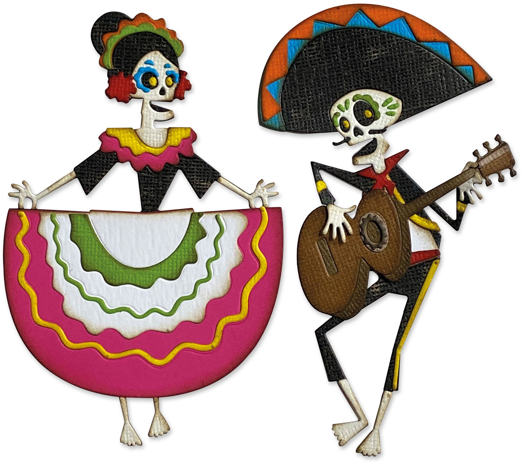 Sizzix Thinlits Dies By Tim Holtz 21/Pkg-Day Of The Dead, Colorize