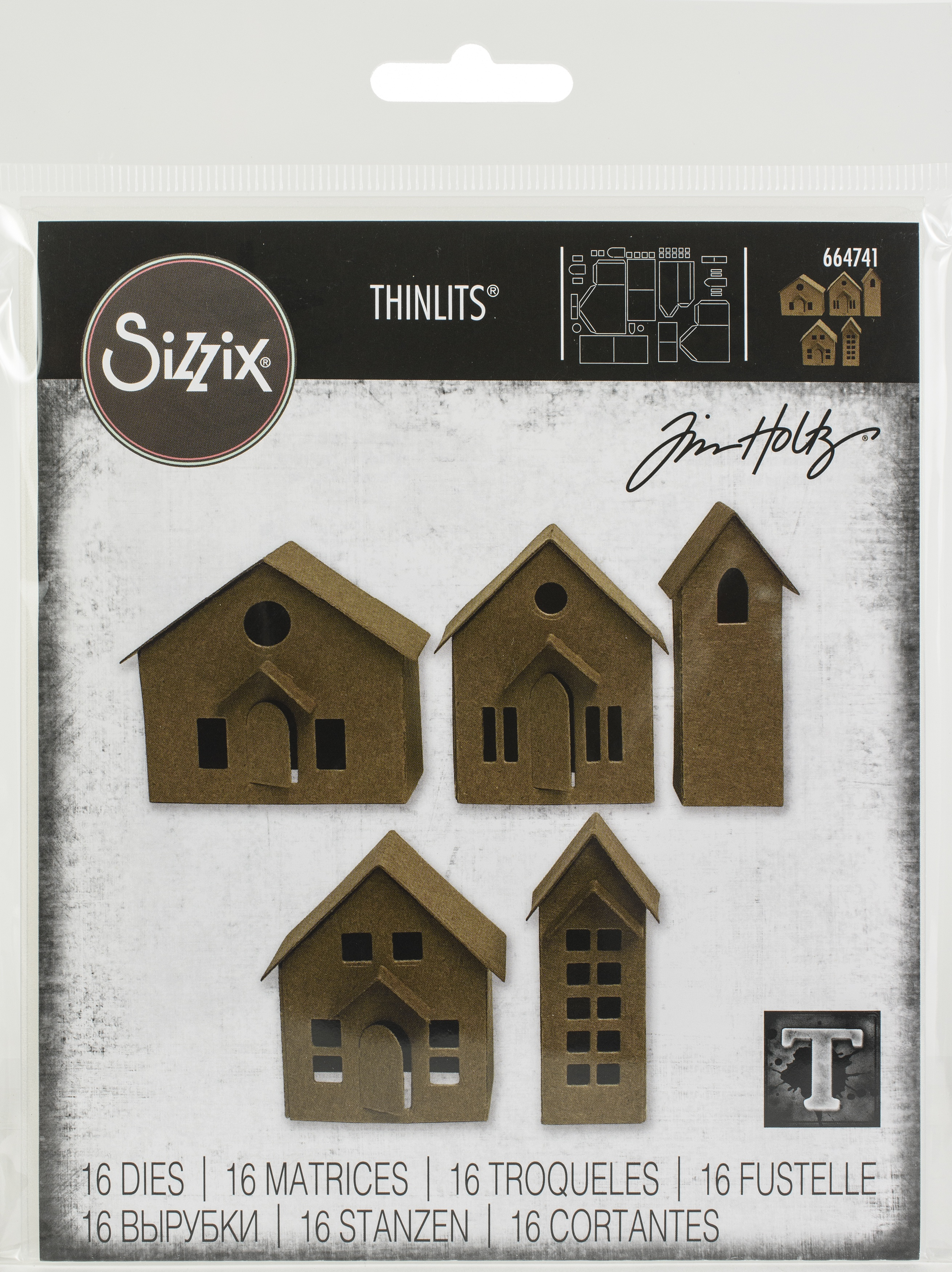 Sizzix Thinlits Dies By Tim Holtz 16/Pkg-Paper Village