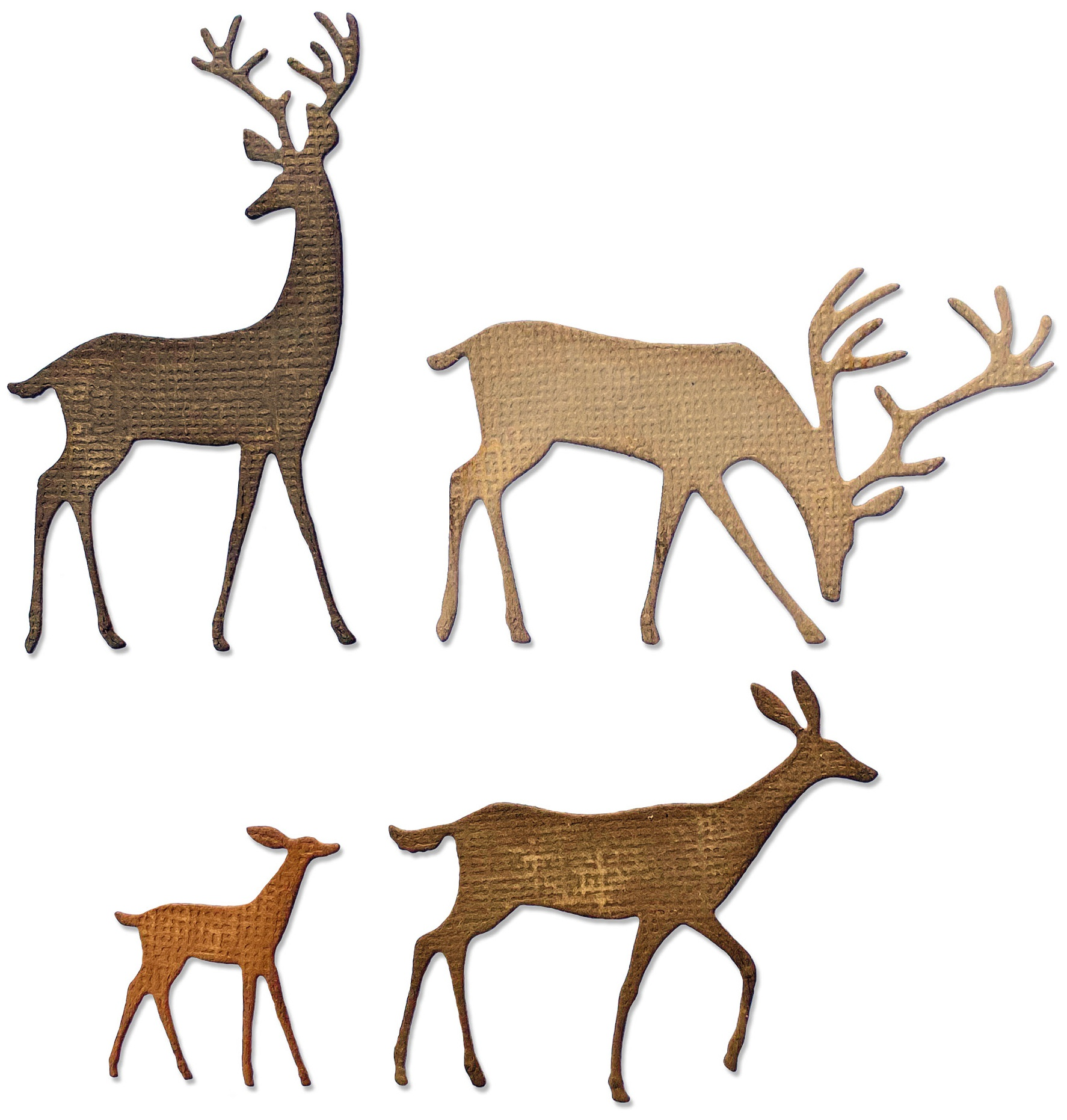 Sizzix Thinlits Dies By Tim Holtz 4/Pkg-Darling Deer