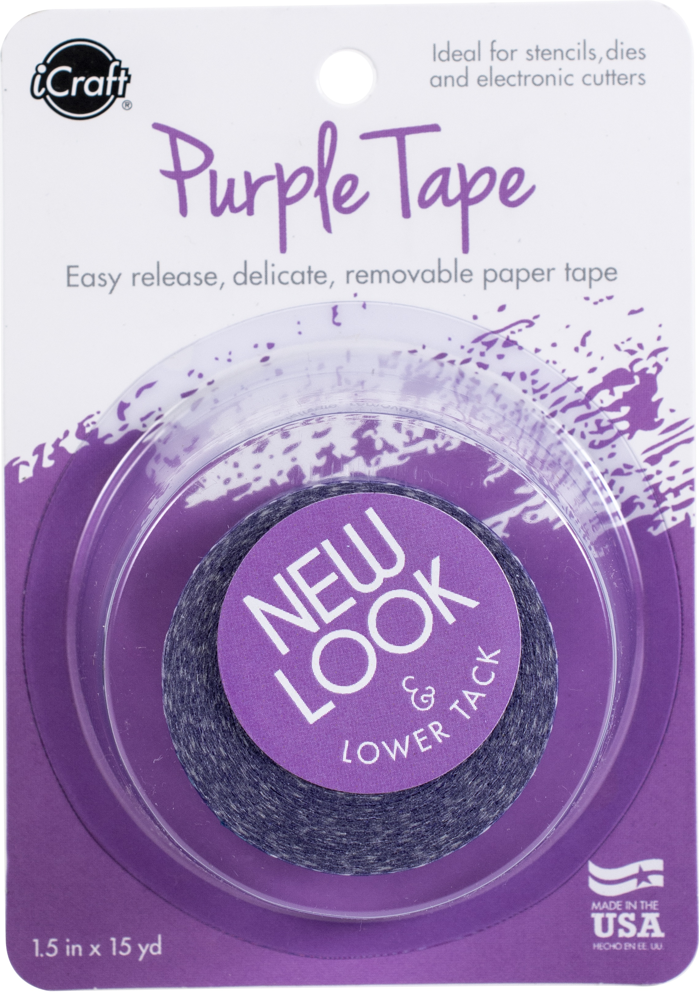 iCraft Removable Purple Tape 1.5X15yd Roll-
