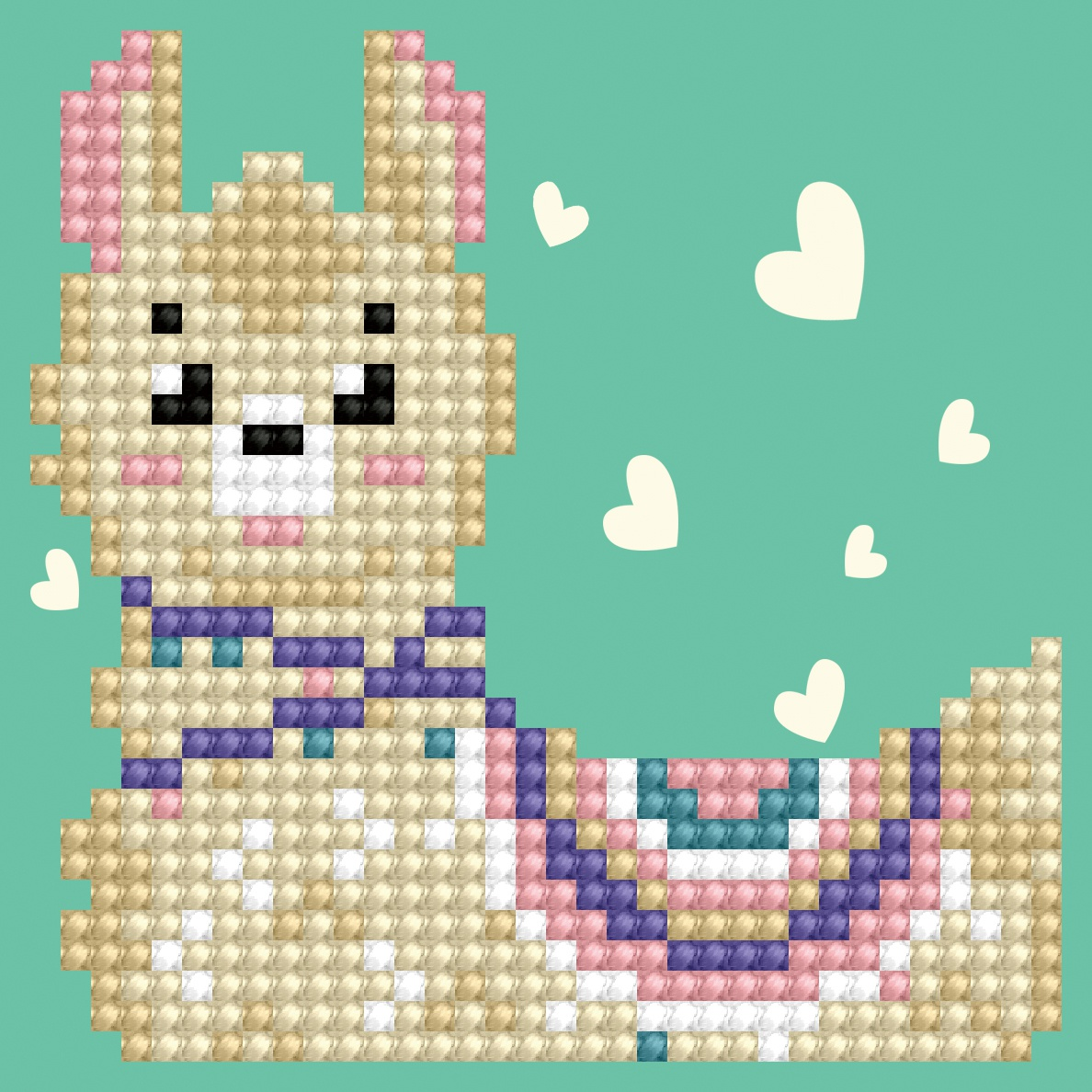 Diamond Dotz Diamond Embroidery Facet Art Kit 3X3-Llama Heart