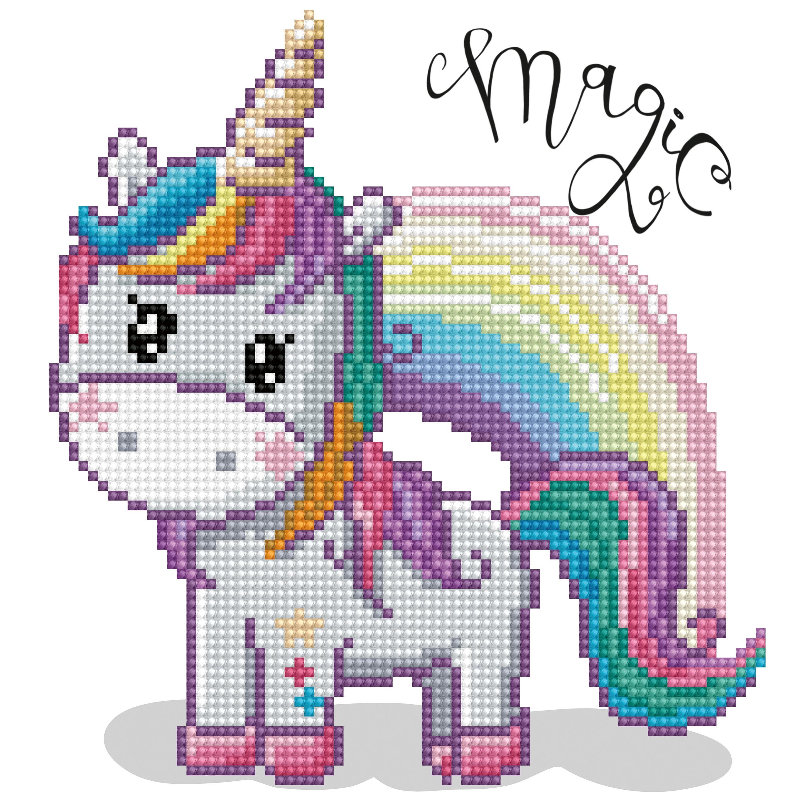 Diamond Dotz Diamond Embroidery Facet Art Kit 9X9-Magic Rainbow