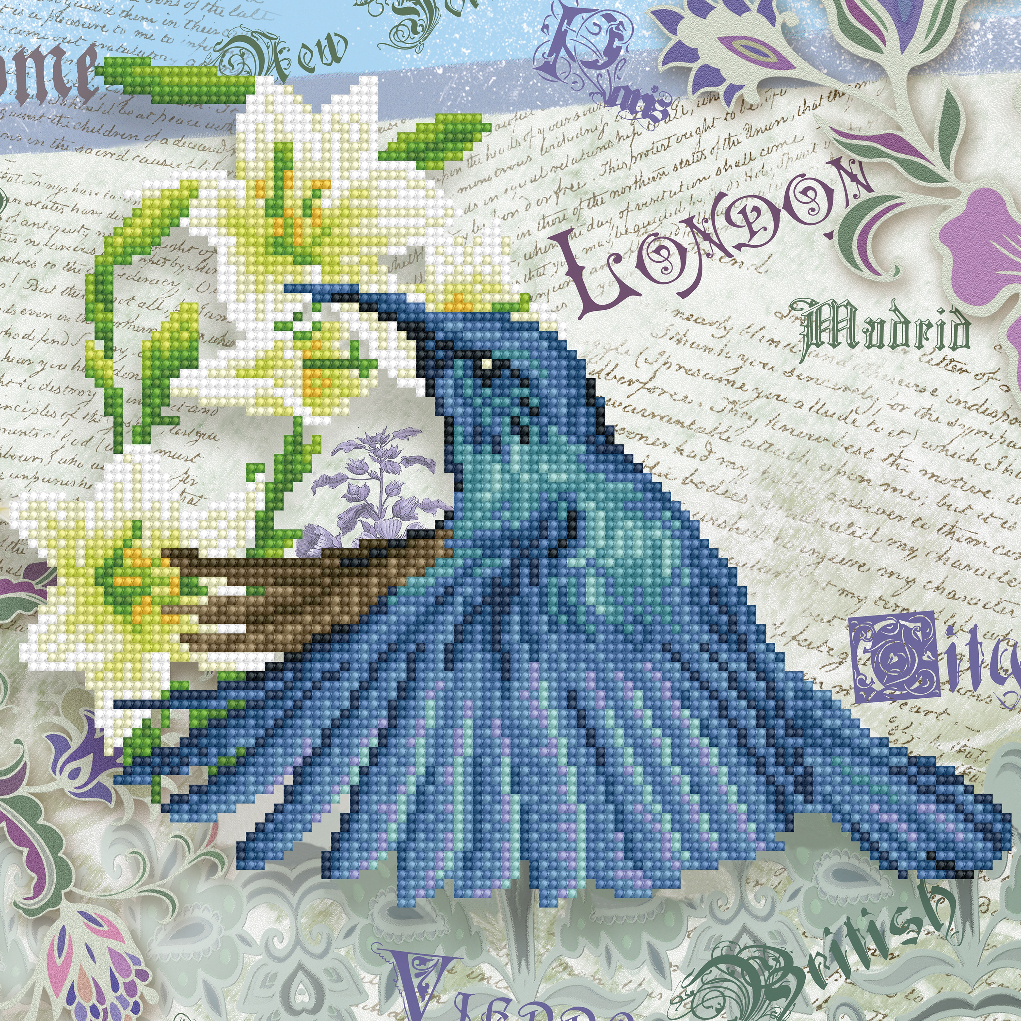 Diamond Dotz Diamond Embroidery Facet Art Kit 12X12-Hummingbird Travels