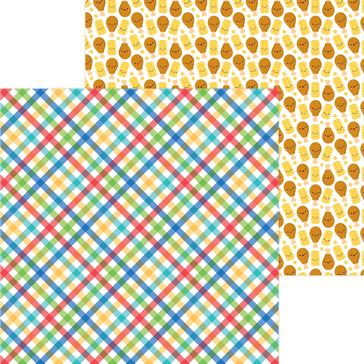 CLICK HERE FOR MORE DESIGNS Bar-B-Cute Double-Sided Cardstock 12X12-Picnic In The Park