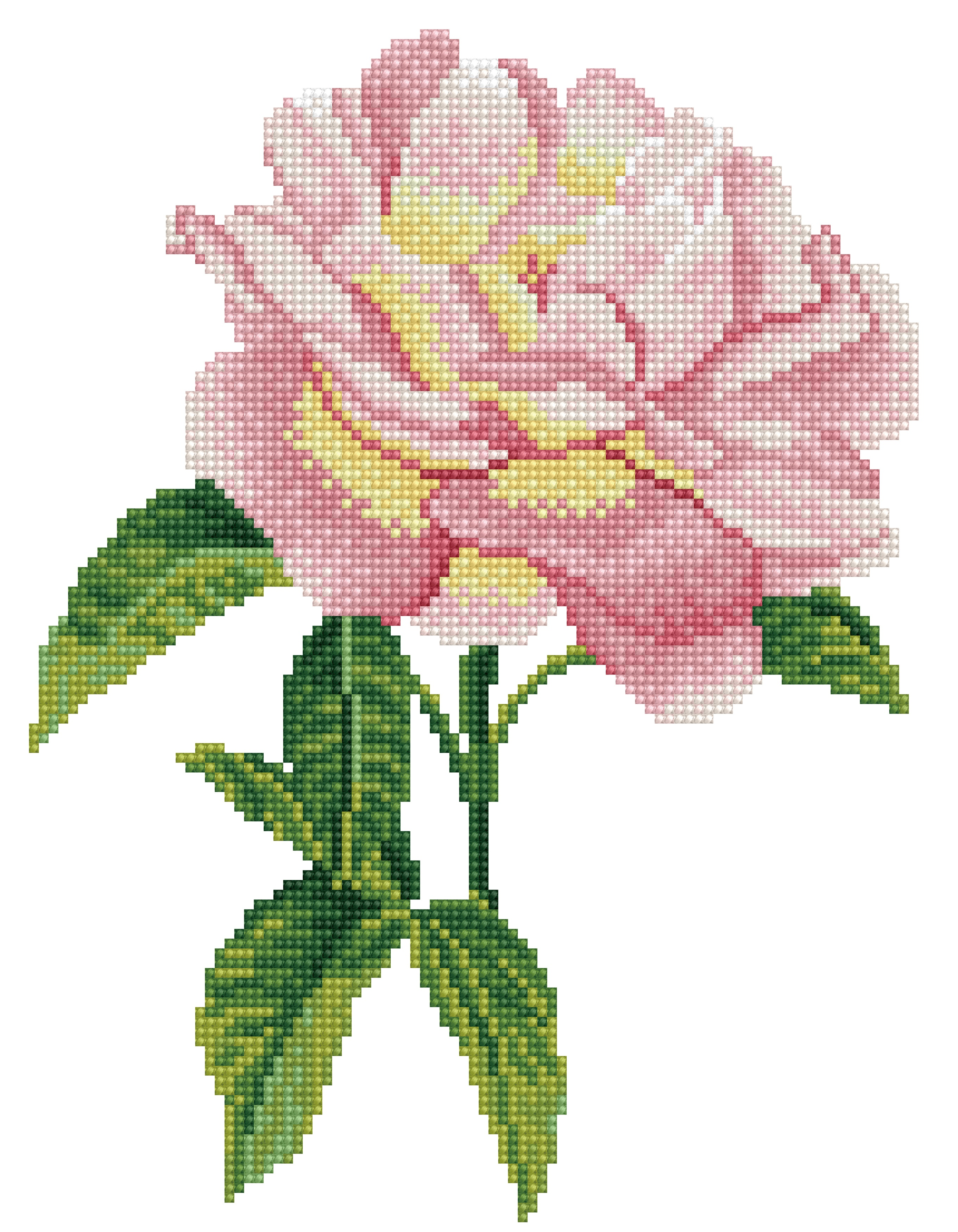 Diamond Dotz Diamond Embroidery Facet Art Kit 10X14-Pink Rose