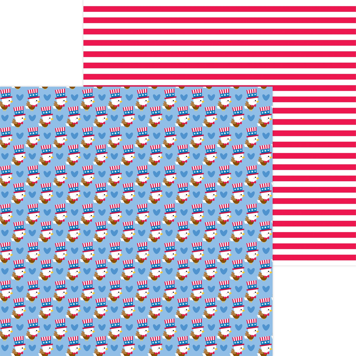 Land That I Love Double-Sided Cardstock 12X12-Uncle Sam