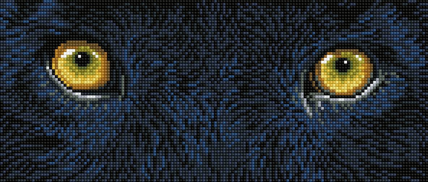 Diamond Dotz Diamond Embroidery Facet Art Kit 7X16-Black Panther Spy