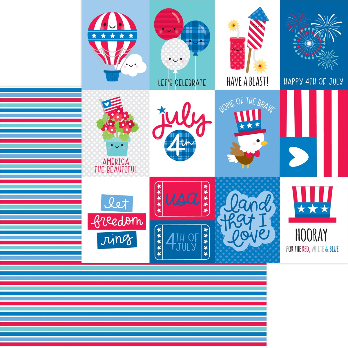 Land That I Love Double-Sided Cardstock 12X12-Summer Streamers