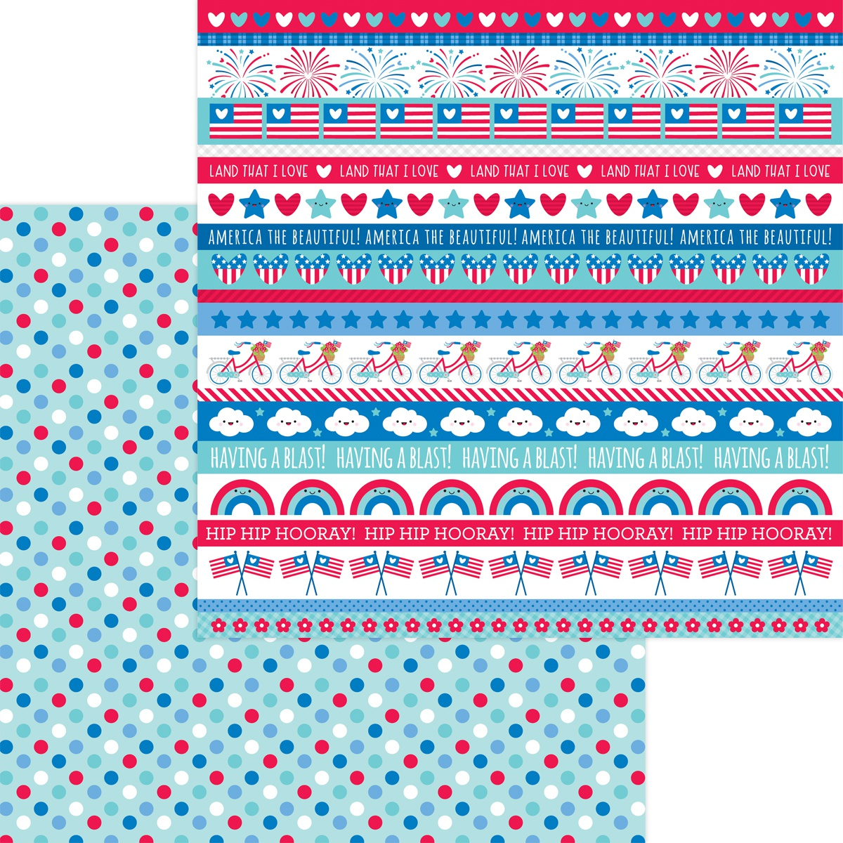 Land That I Love Double-Sided Cardstock 12X12-Polka-Dot Parade